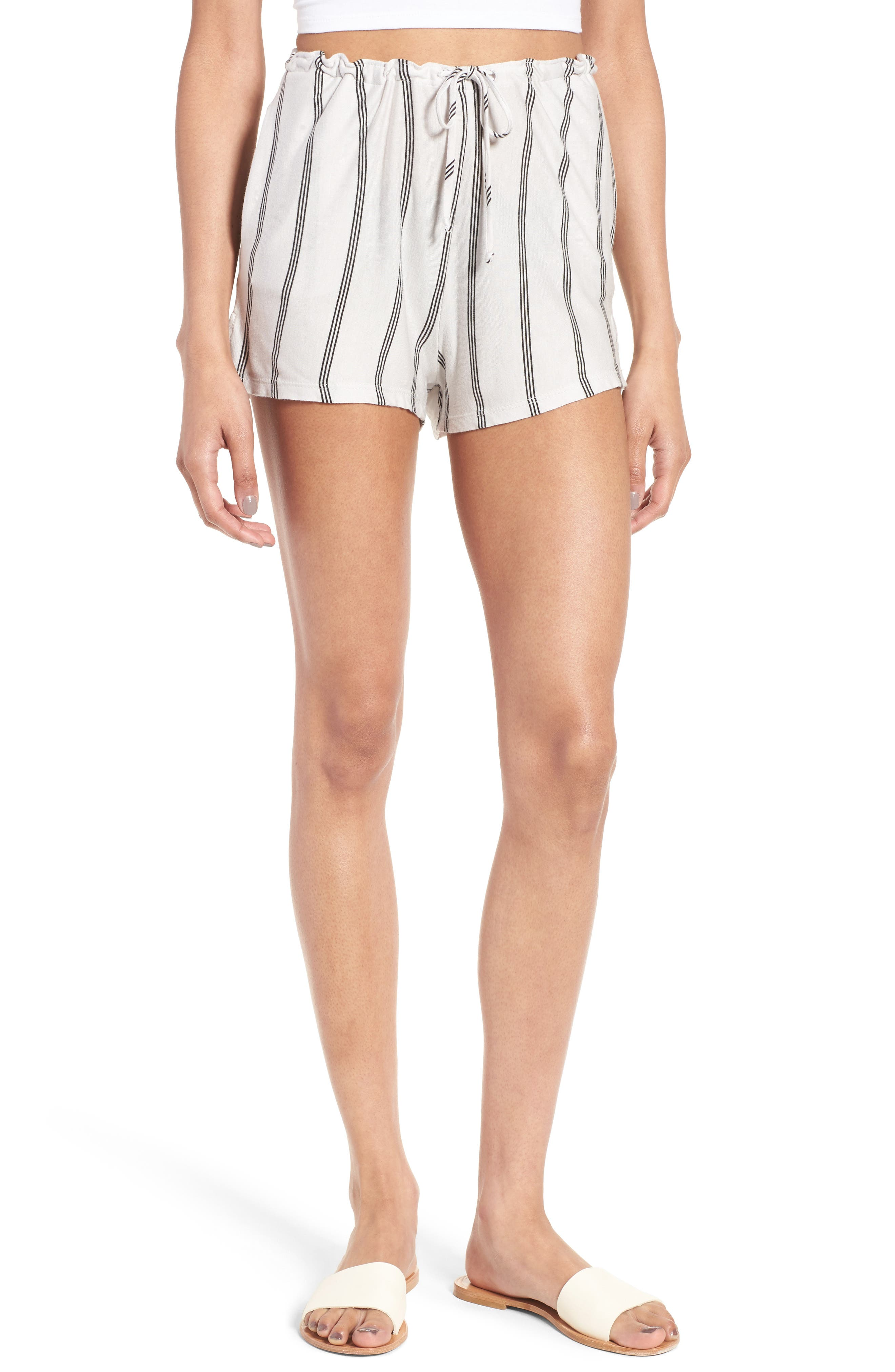 Alternate Image 1 Selected - Michelle by Comune Reklaw Stripe Shorts