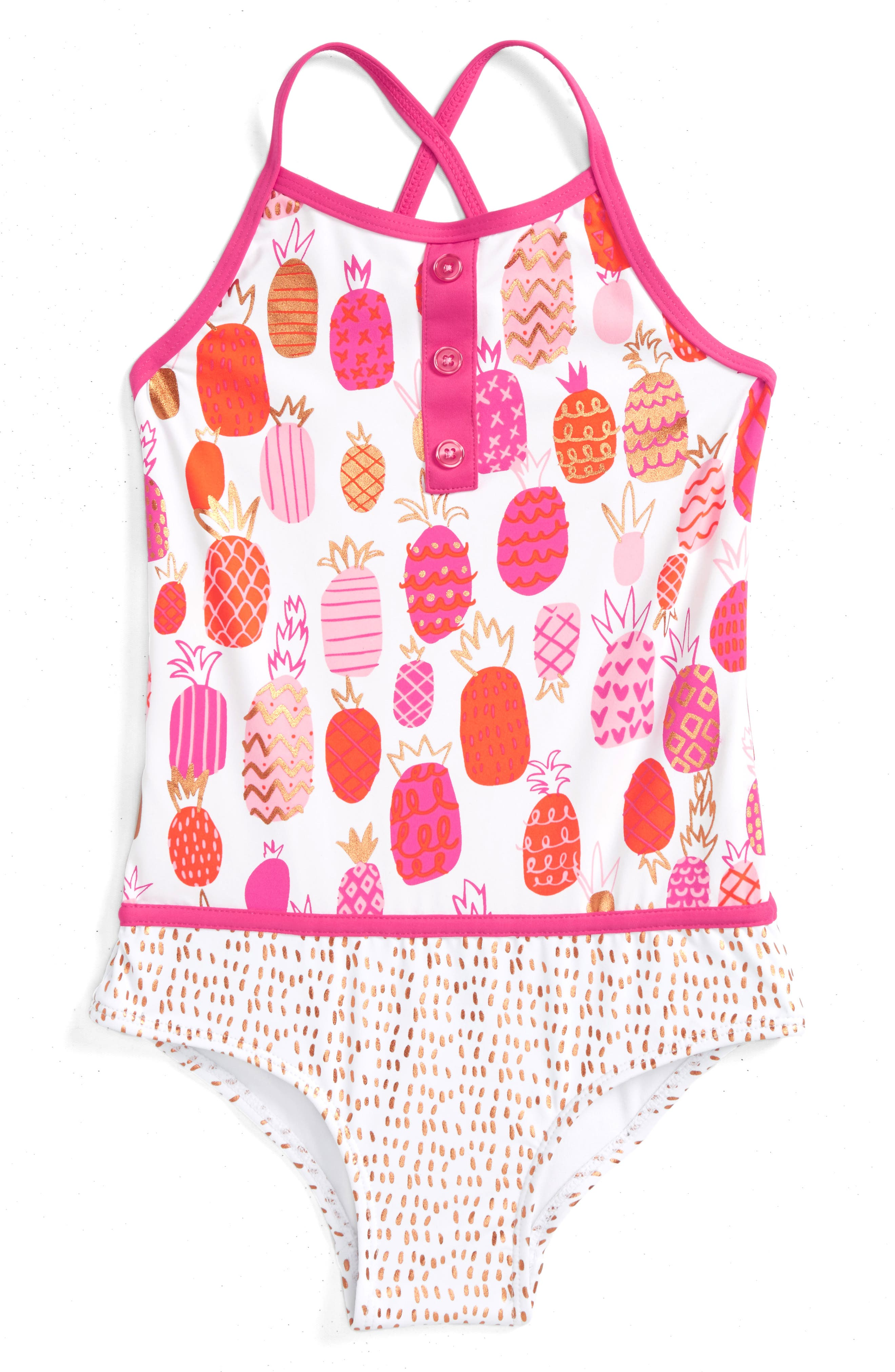 Hatley Tropical Pineapples One-Piece Swimsuit (Toddler Girls, Little Girls & Big Girls)