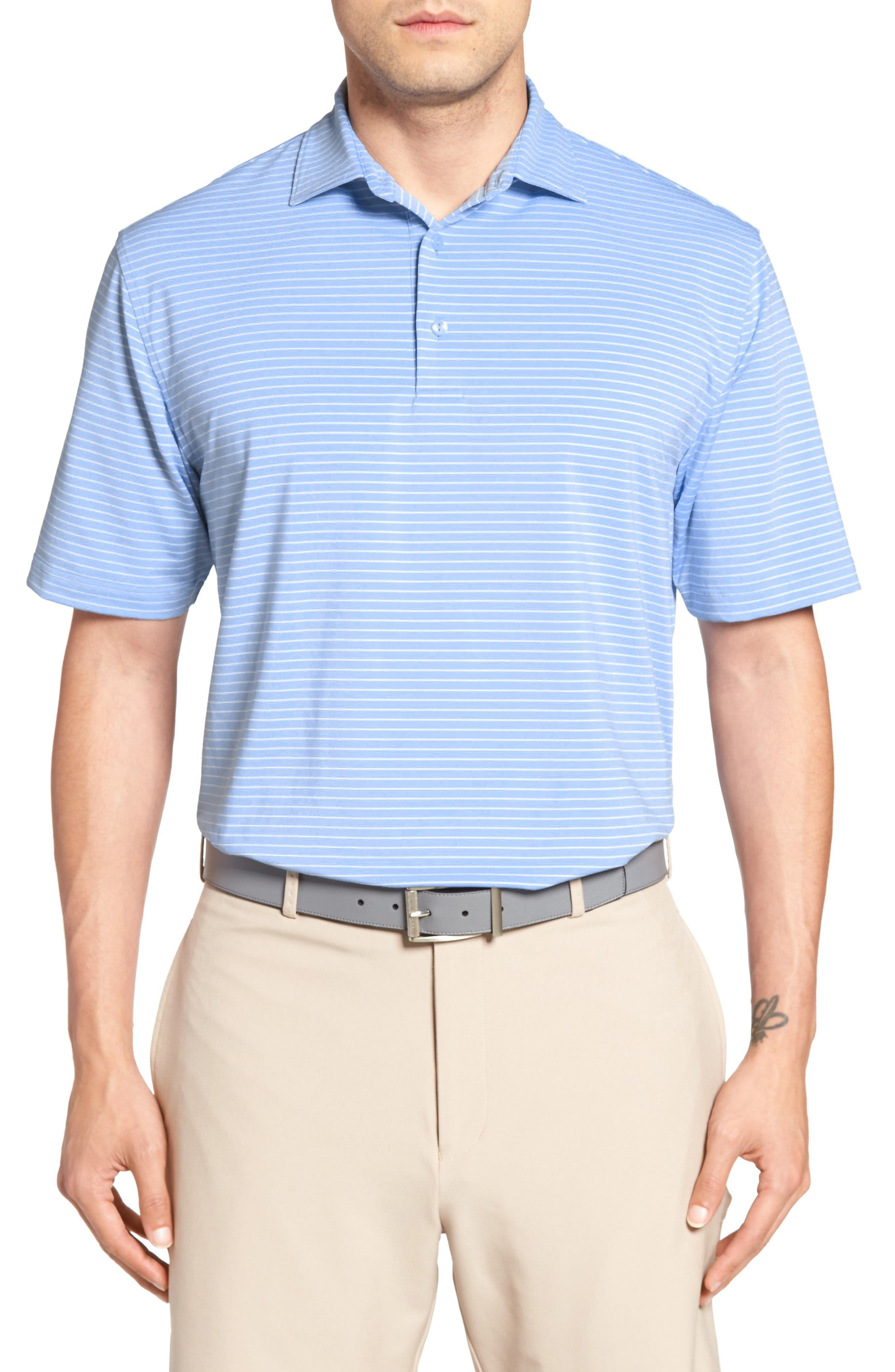 PETER MILLAR Sheppard Stripe Golf Polo