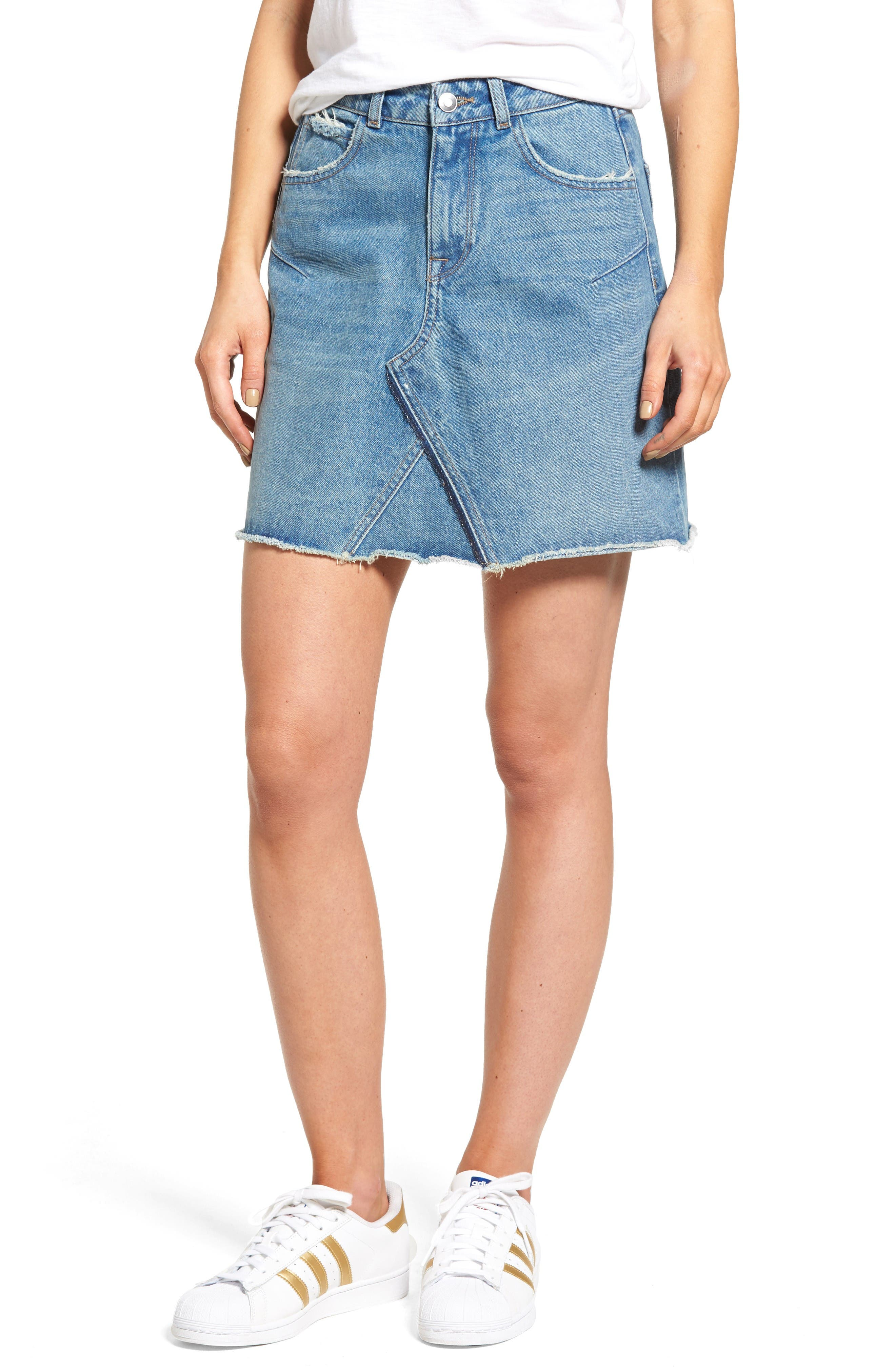 DL1961 Parker High Waist Denim Skirt (Track)