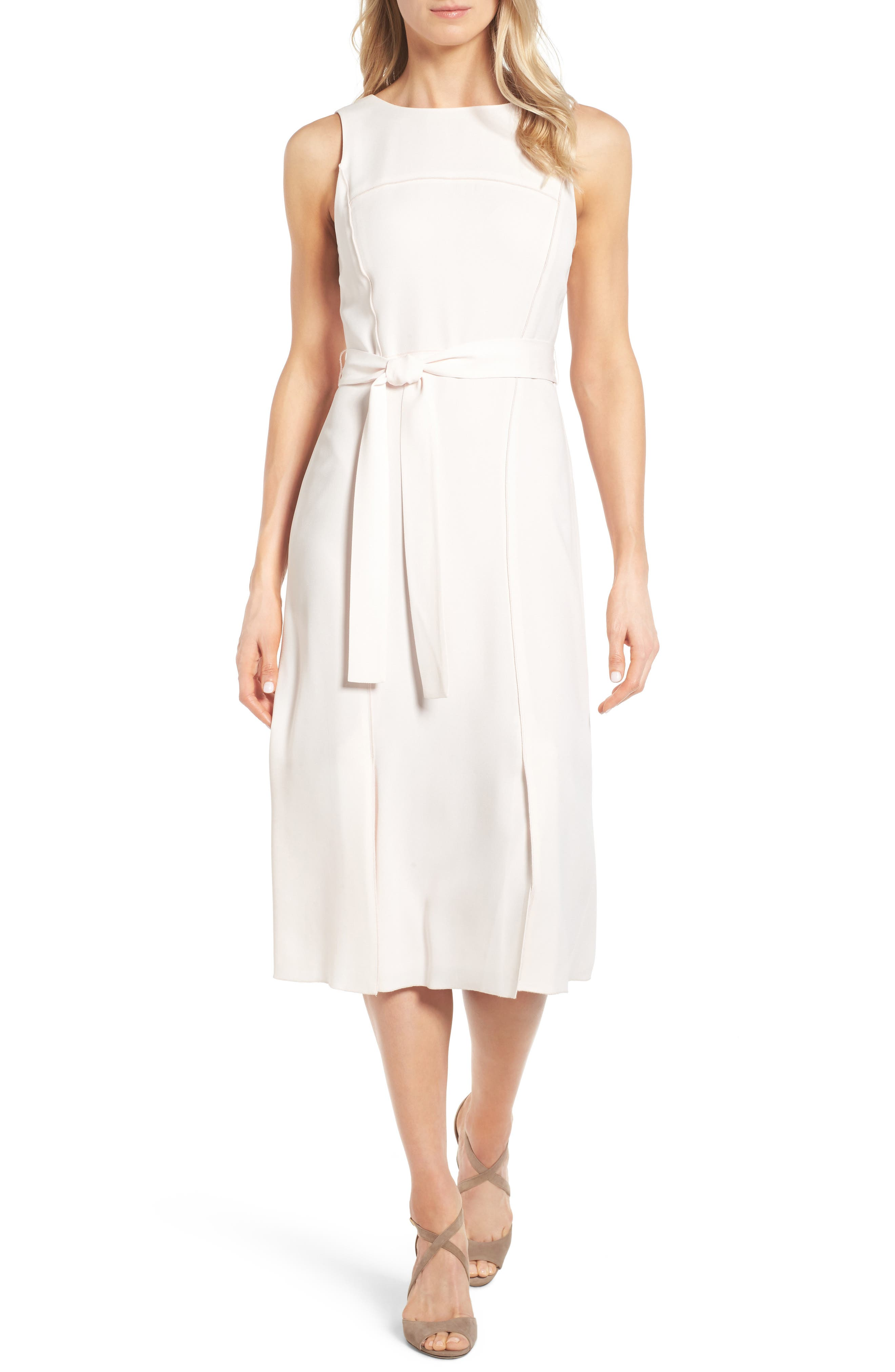 Alternate Image 1 Selected - Classiques Entier® Italian Crepe Midi Dress
