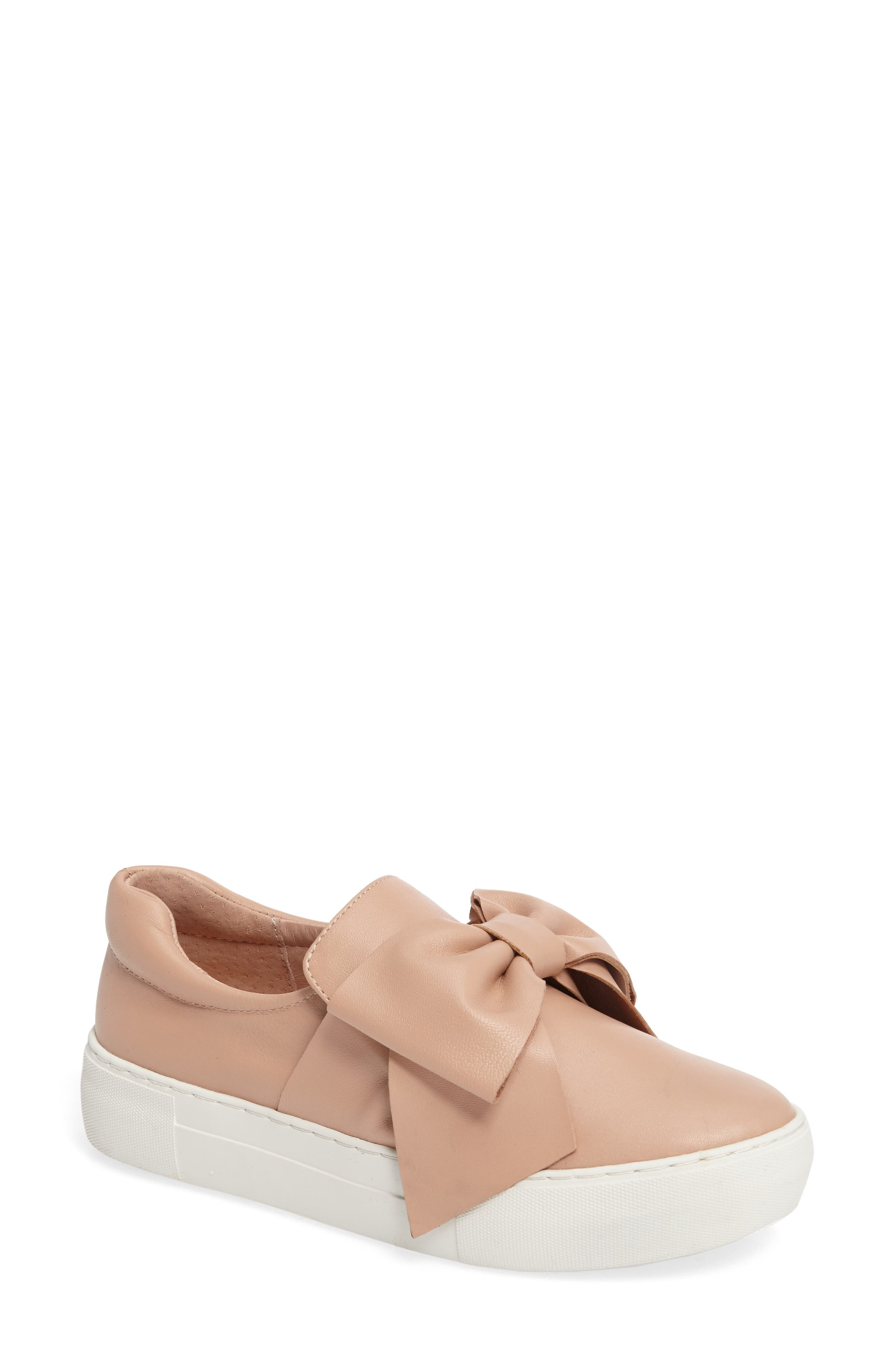 Main Image - JSlides Beauty Bow Platform Slip-On Sneaker (Women)