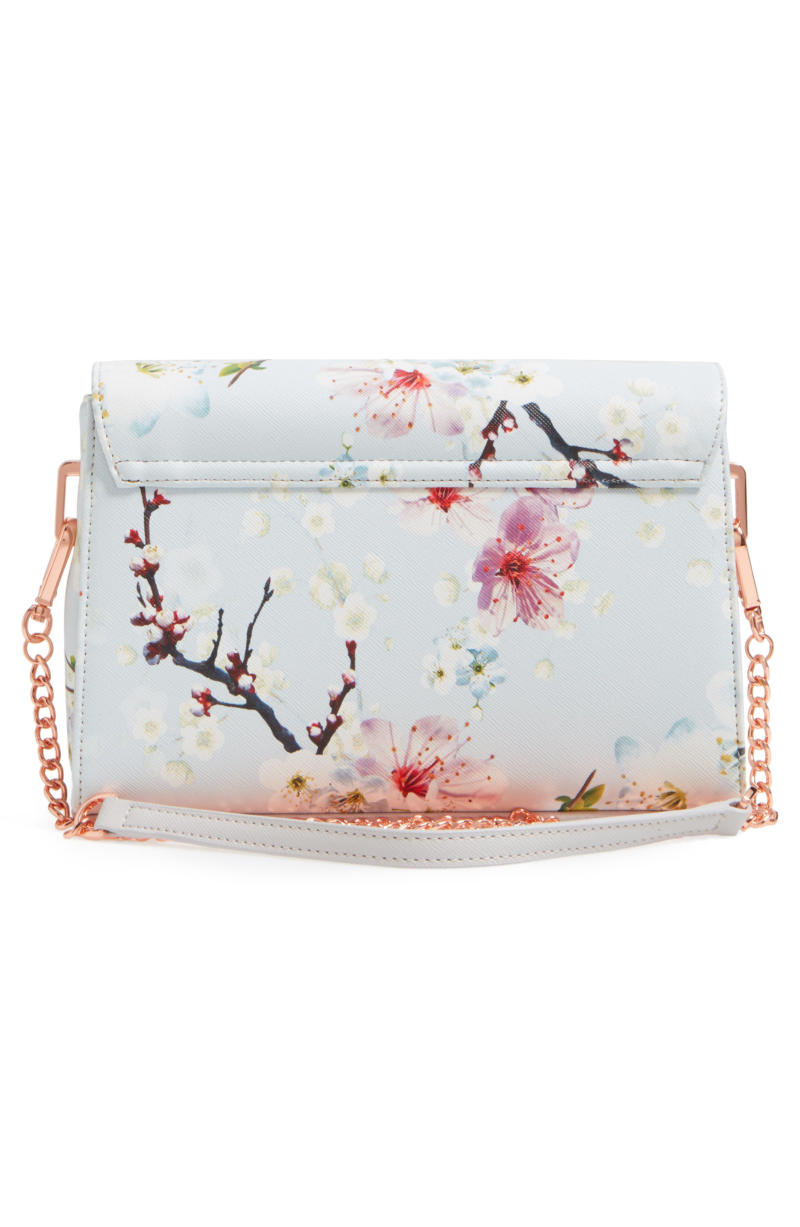 Alternate Image 2  - Ted Baker London Hadly Cherry Blossom Faux Leather Crossbody Bag