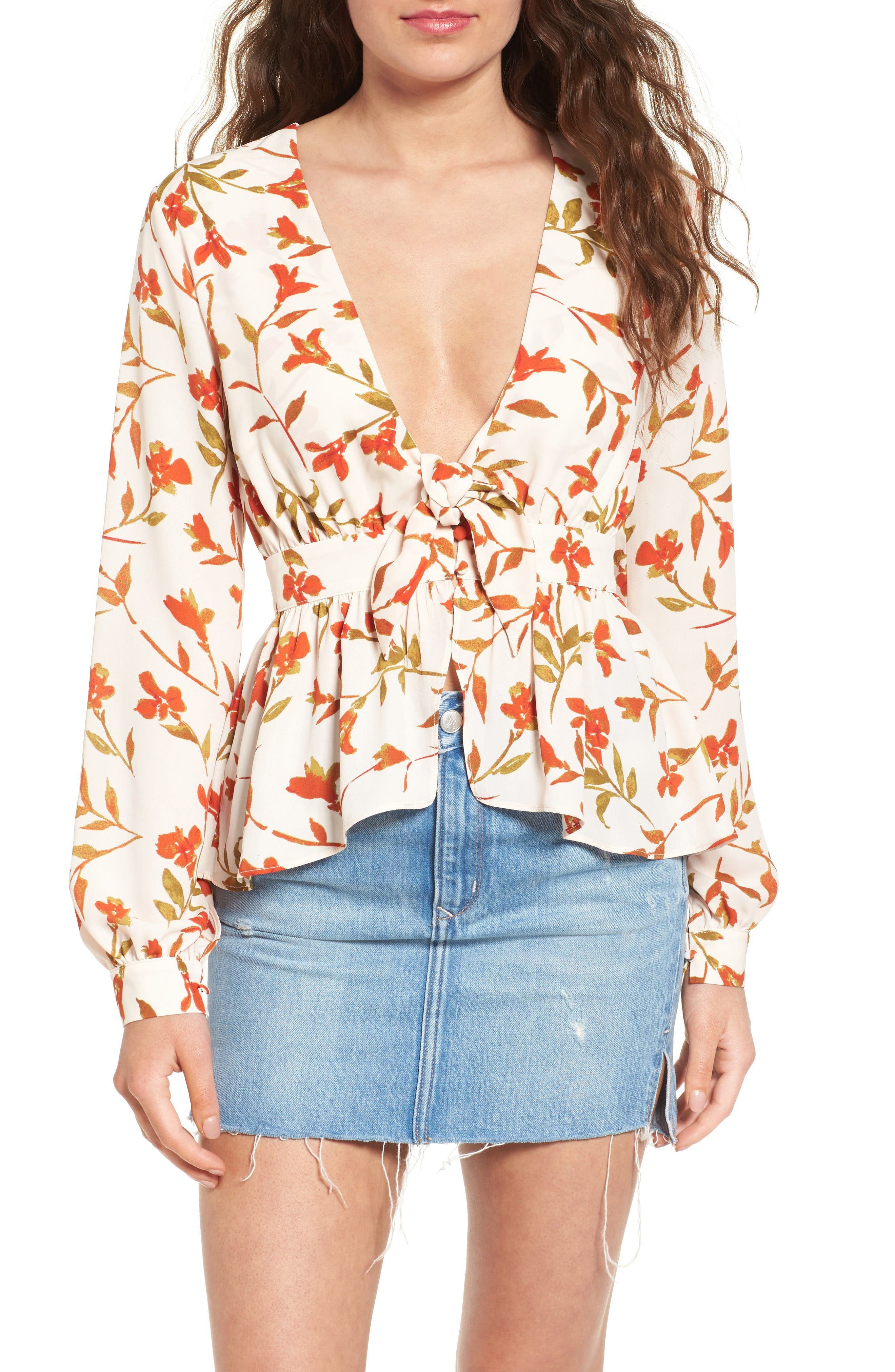 Alternate Image 1 Selected - Lovers & Friends Hermosa Floral Print Blouse