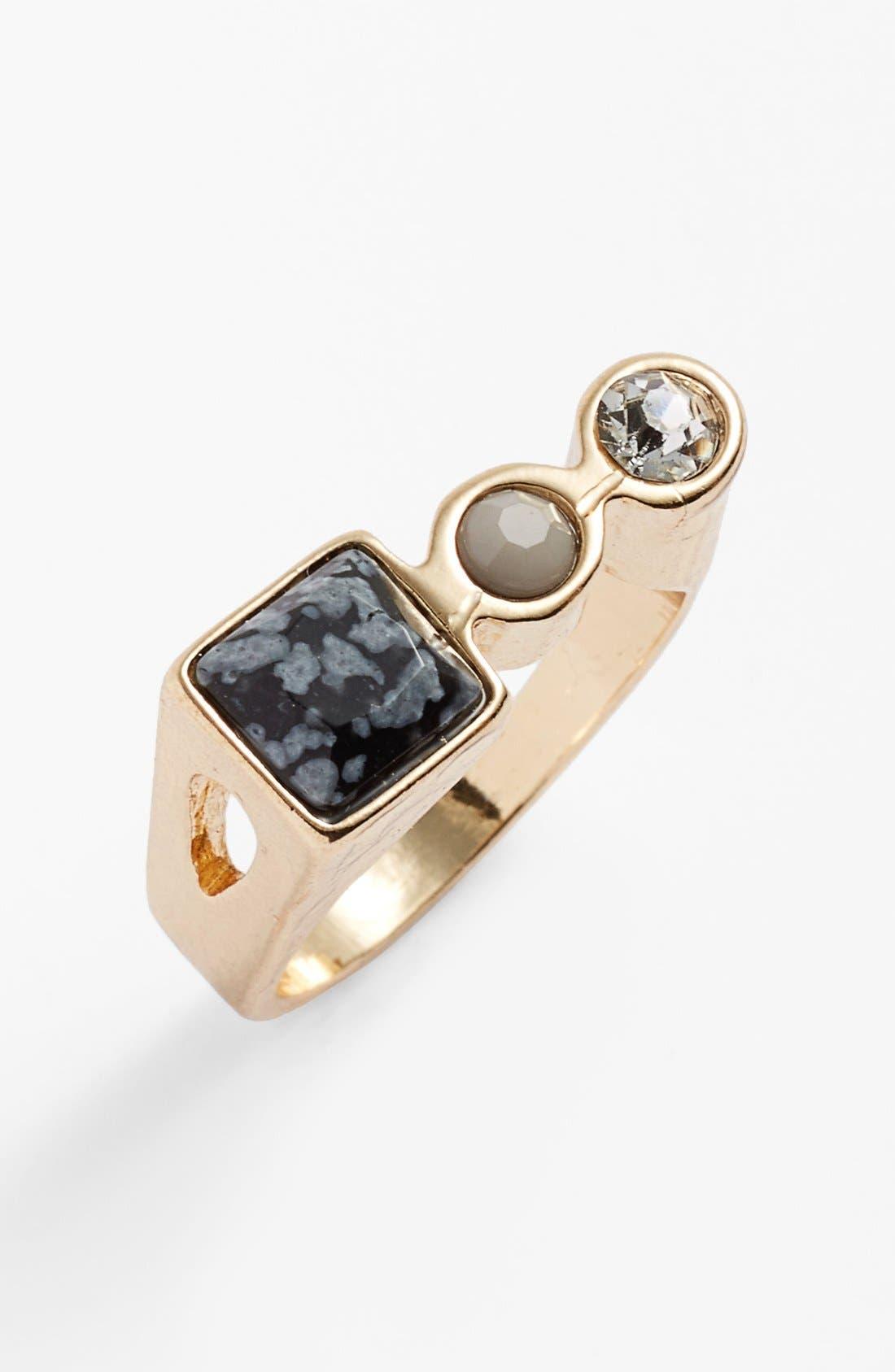 Alternate Image 1 Selected - Topshop Triple Stone Ring