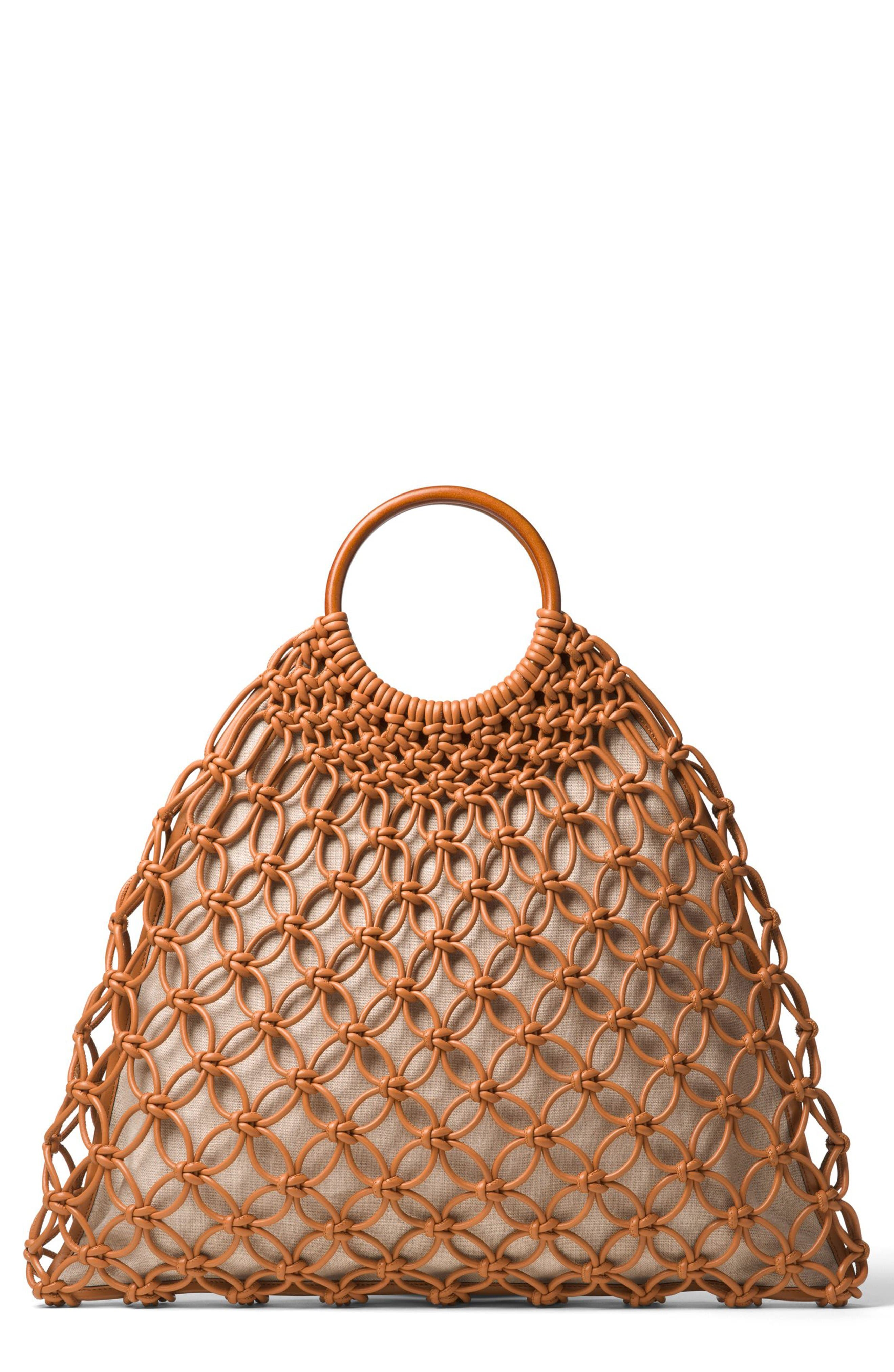Alternate Image 1 Selected - Michael Kors Cooper Woven Leather Tote