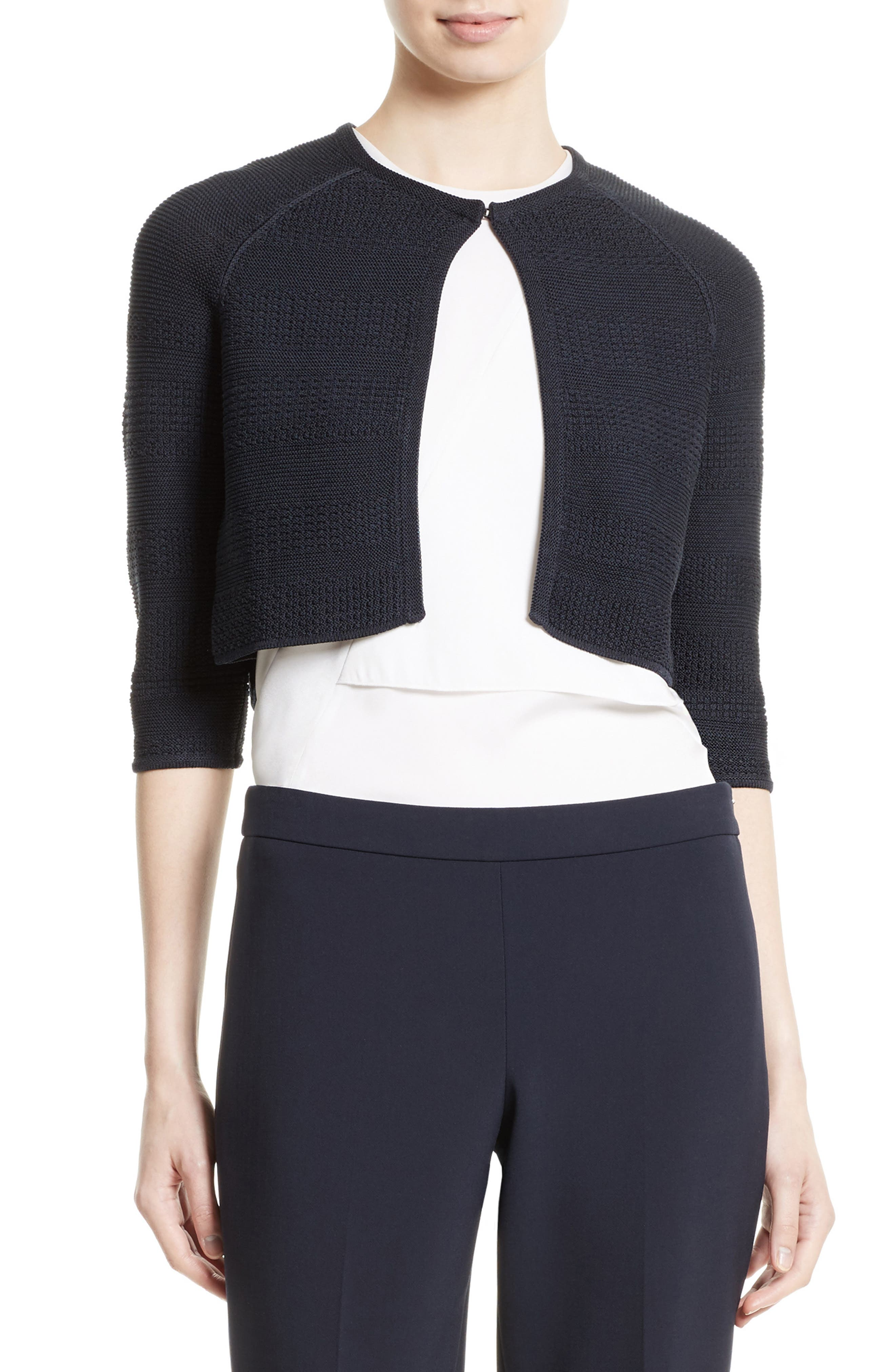 BOSS Feya Textured Bolero Sweater