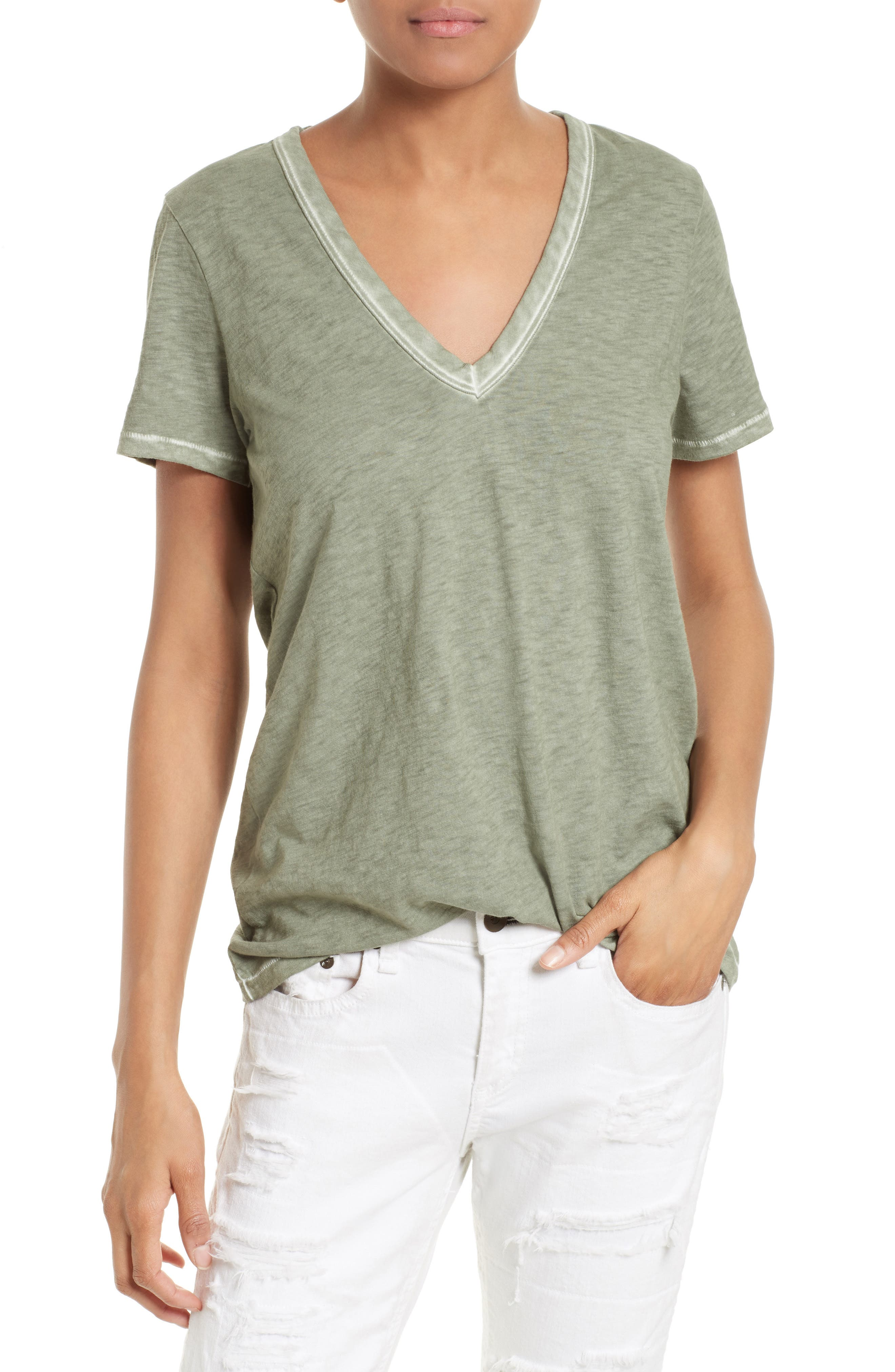 rag & bone/JEAN Sublime Wash Cotton Tee