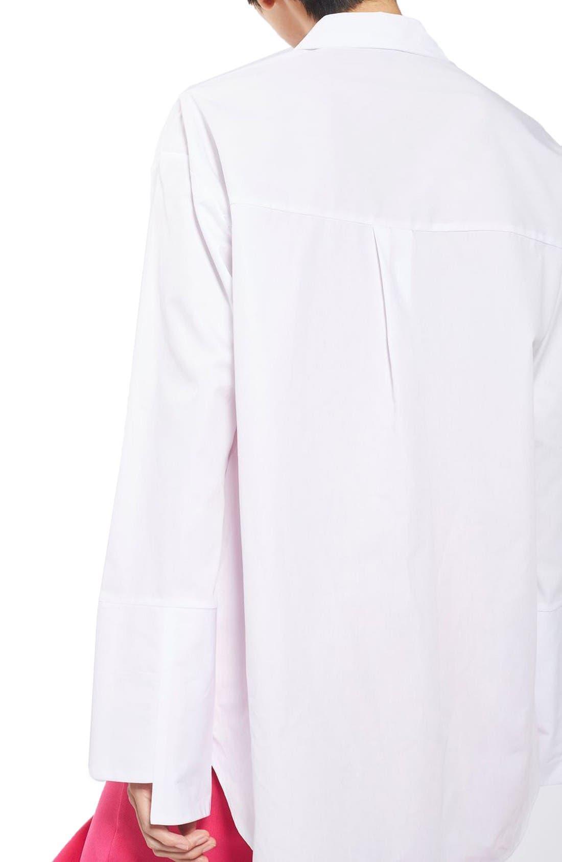 Alternate Image 3  - Topshop Deep Cuff Oversize Shirt