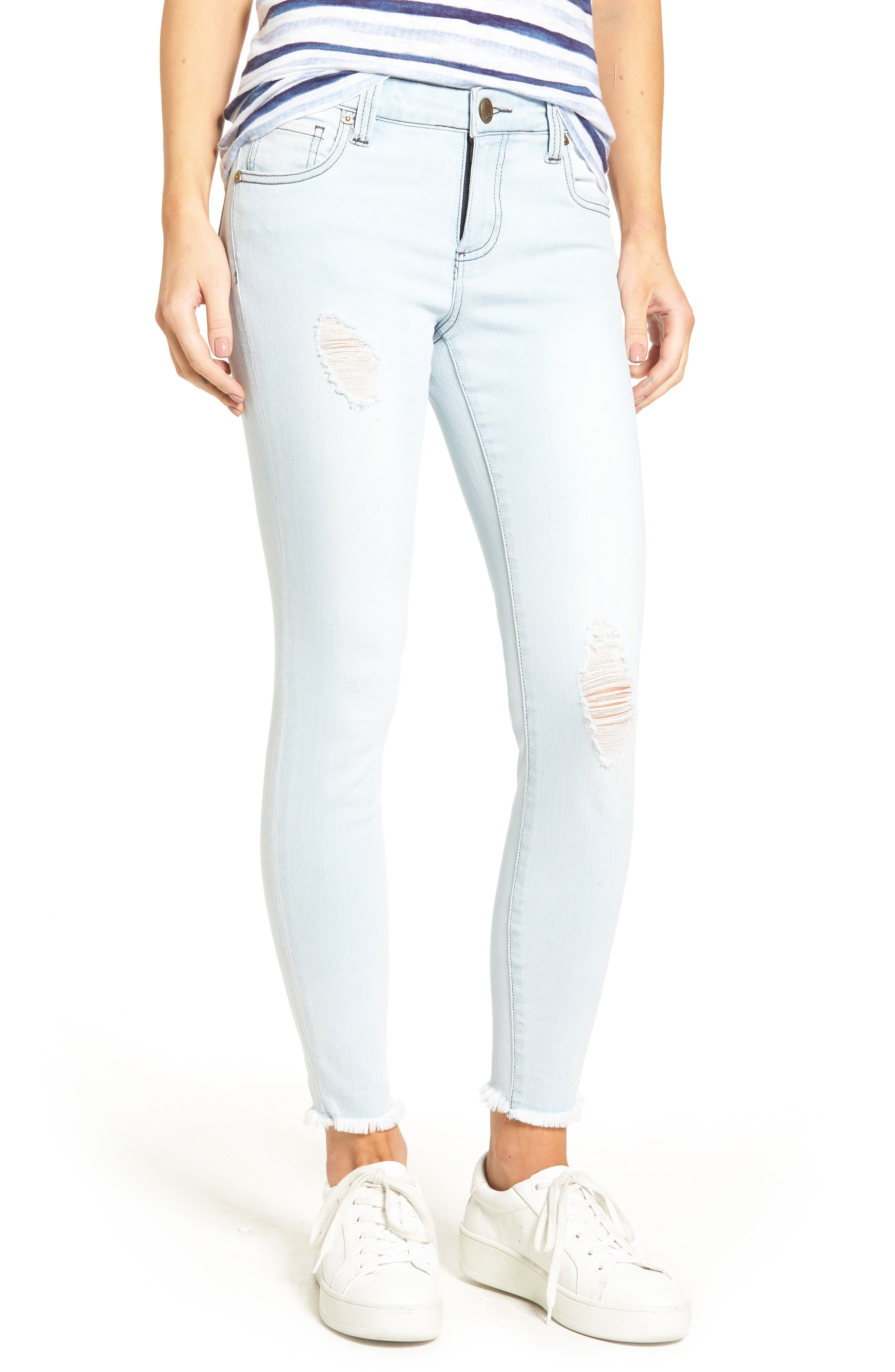 KUT from the Kloth Connie Ripped Skinny Ankle Jeans (Aspiration)