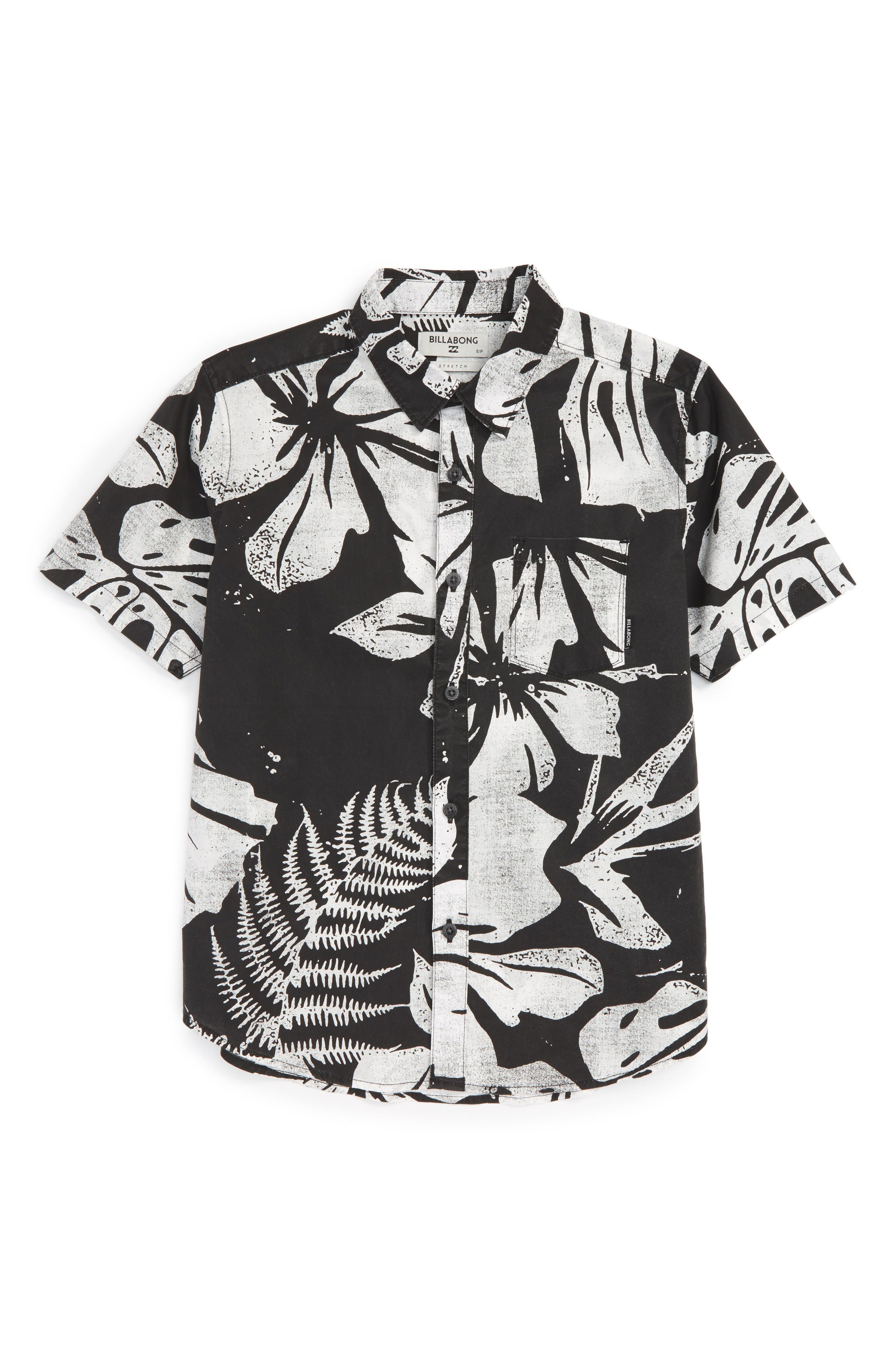 Main Image - Billabong Tropics Short Sleeve Woven Shirt (Little Boys)