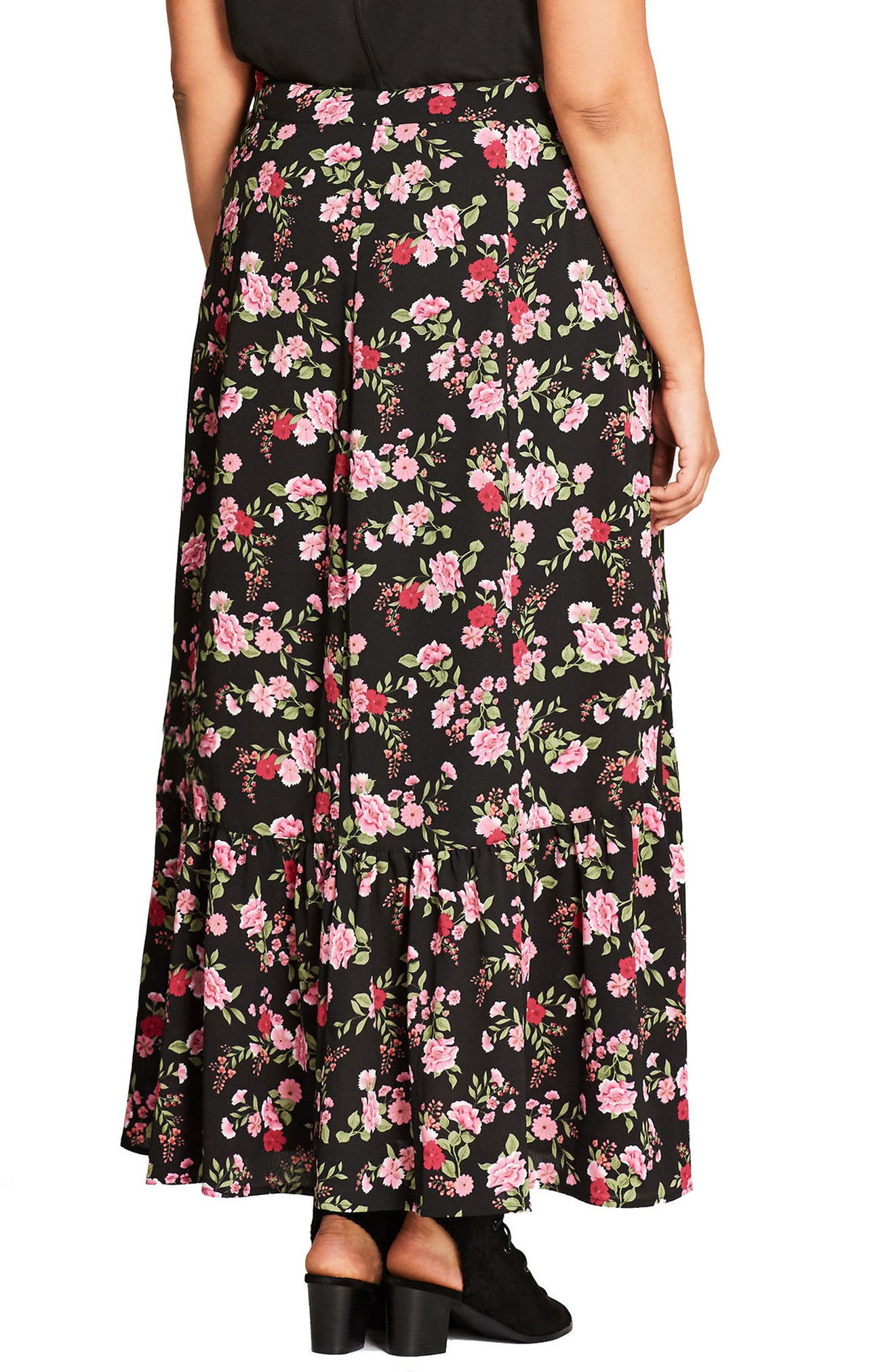 Alternate Image 2  - City Chic Free Spirit Maxi Skirt (Plus Size)