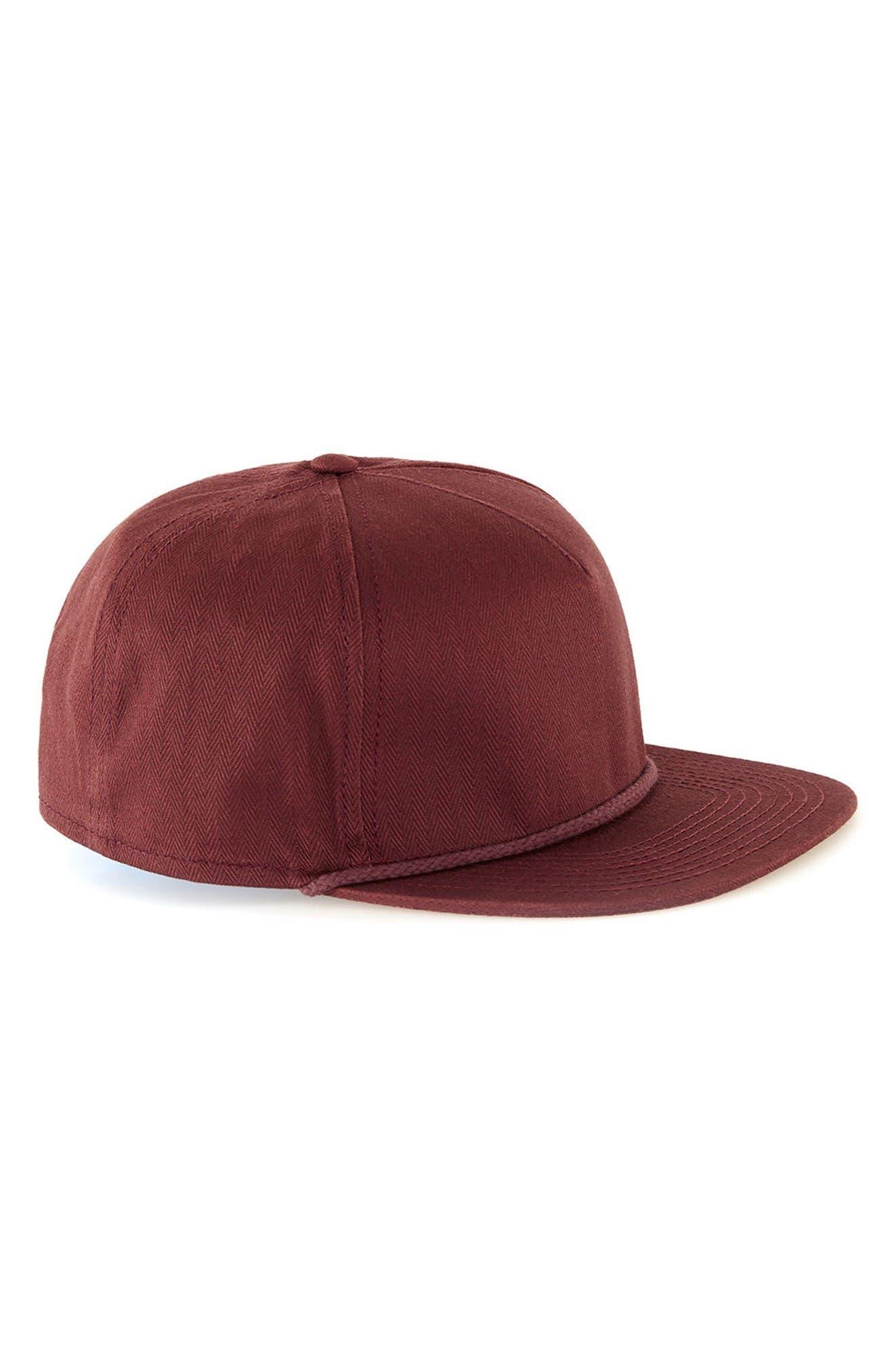 Topman Herringbone Snapback Cap