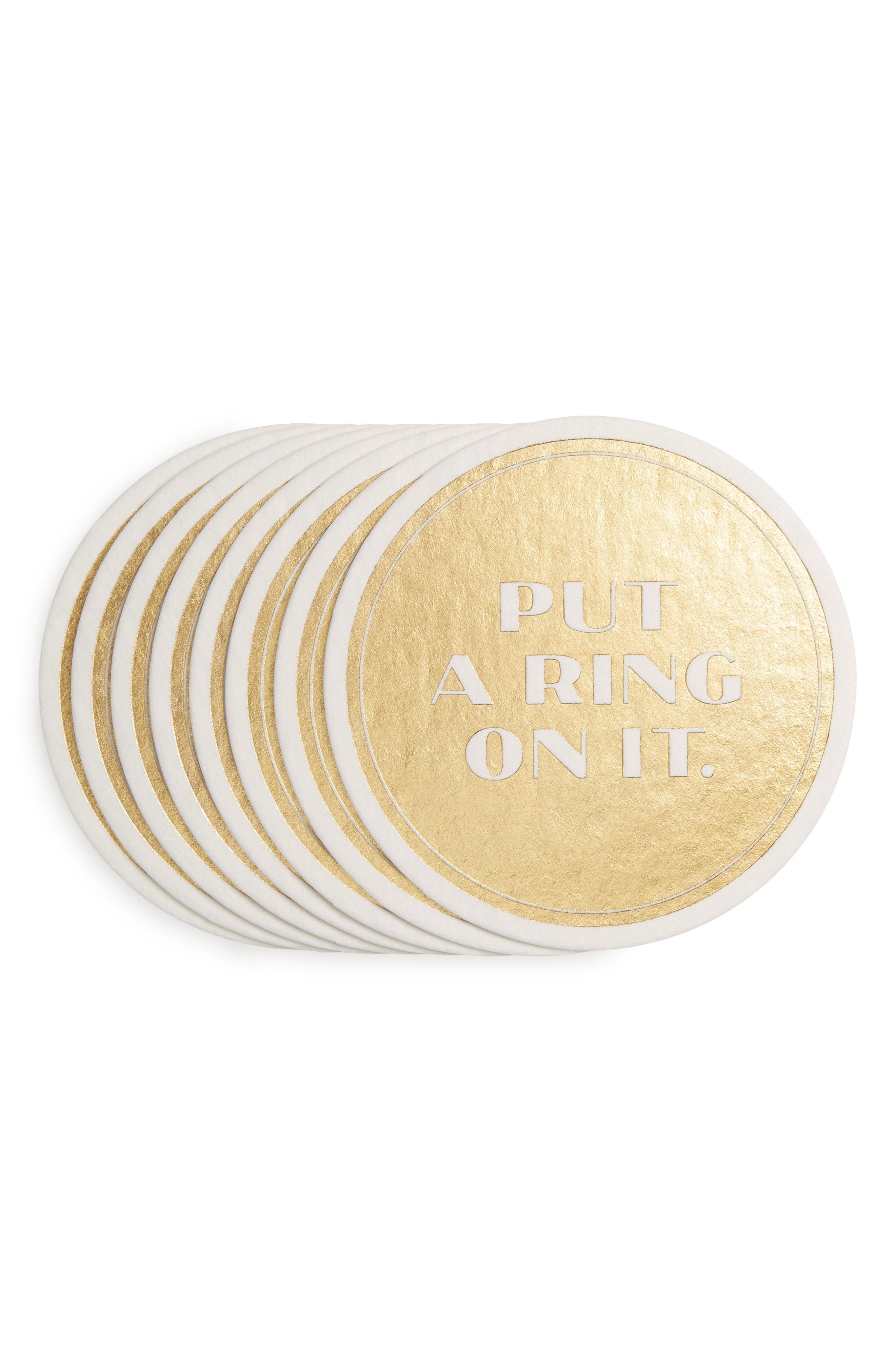 Easy, Tiger Put A Ring On It Set of 8 Coasters