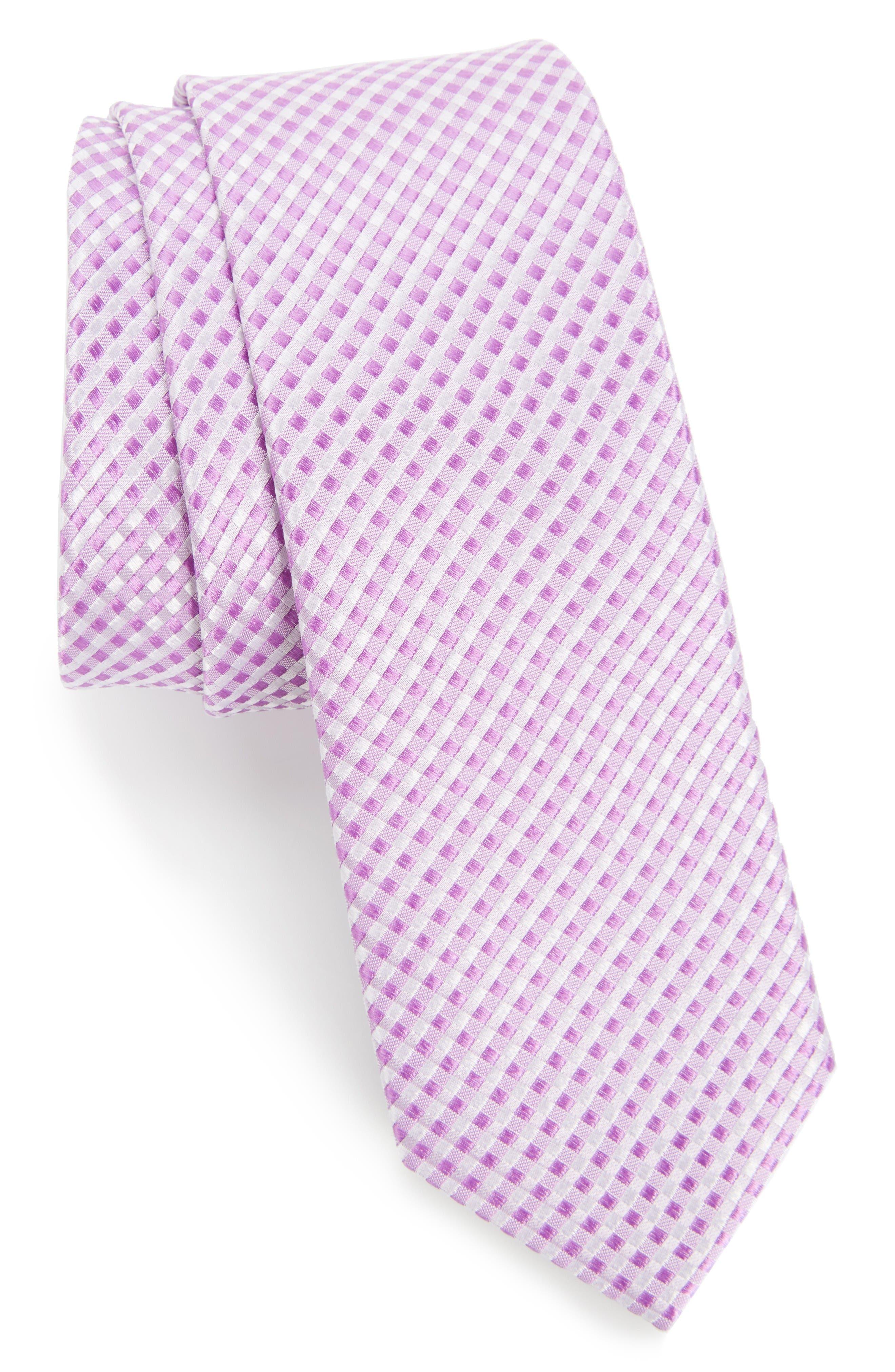 Nordstrom Men's Shop Elkin Check Silk Skinny Tie