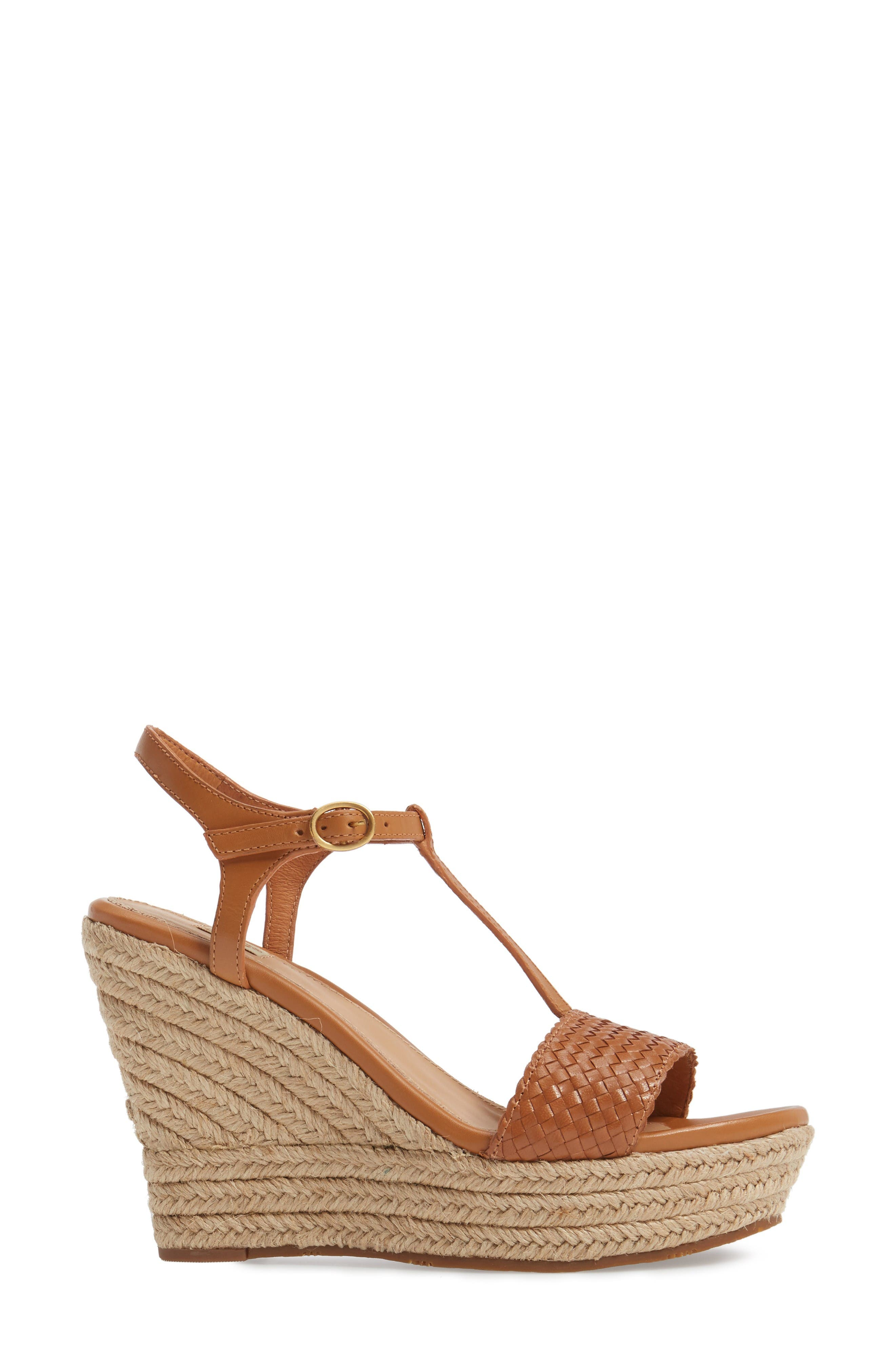 Alternate Image 3  - UGG® Fitchie II Espadrille Wedge Sandal (Women)