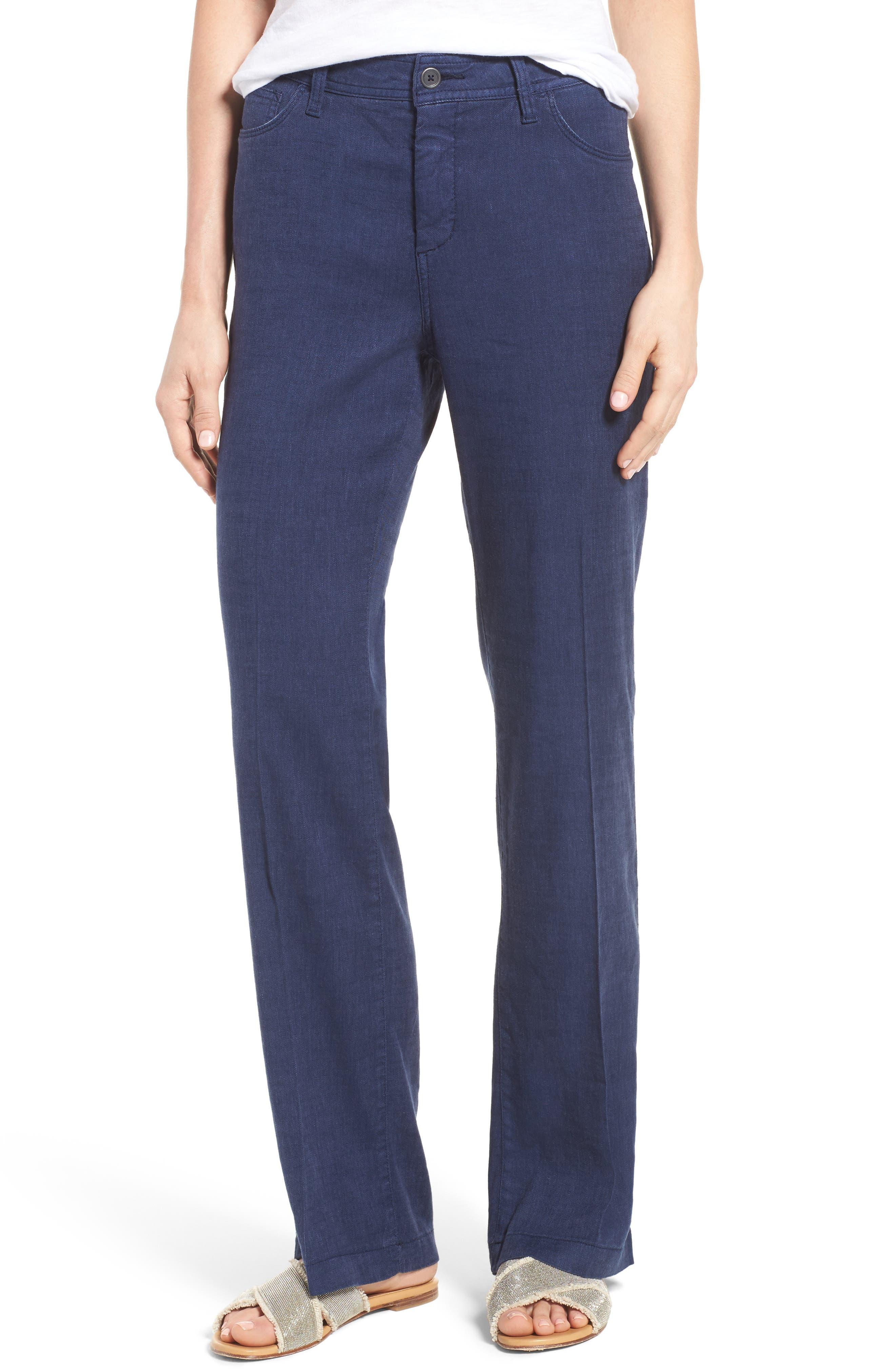 NYDJ Wylie Five-Pocket Linen Trousers (Regular & Petite)