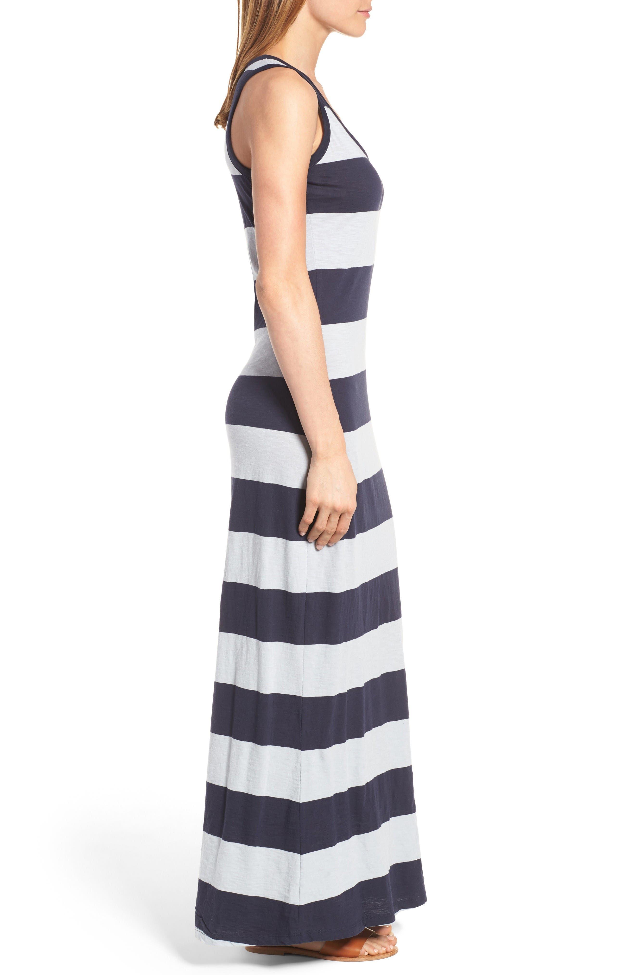 Alternate Image 3  - Press Stripe Racerback Maxi Dress
