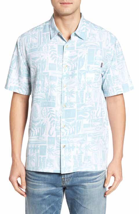 Jack O'Neill Driftwood Regular Fit Short Sleeve Print Sport Shirt