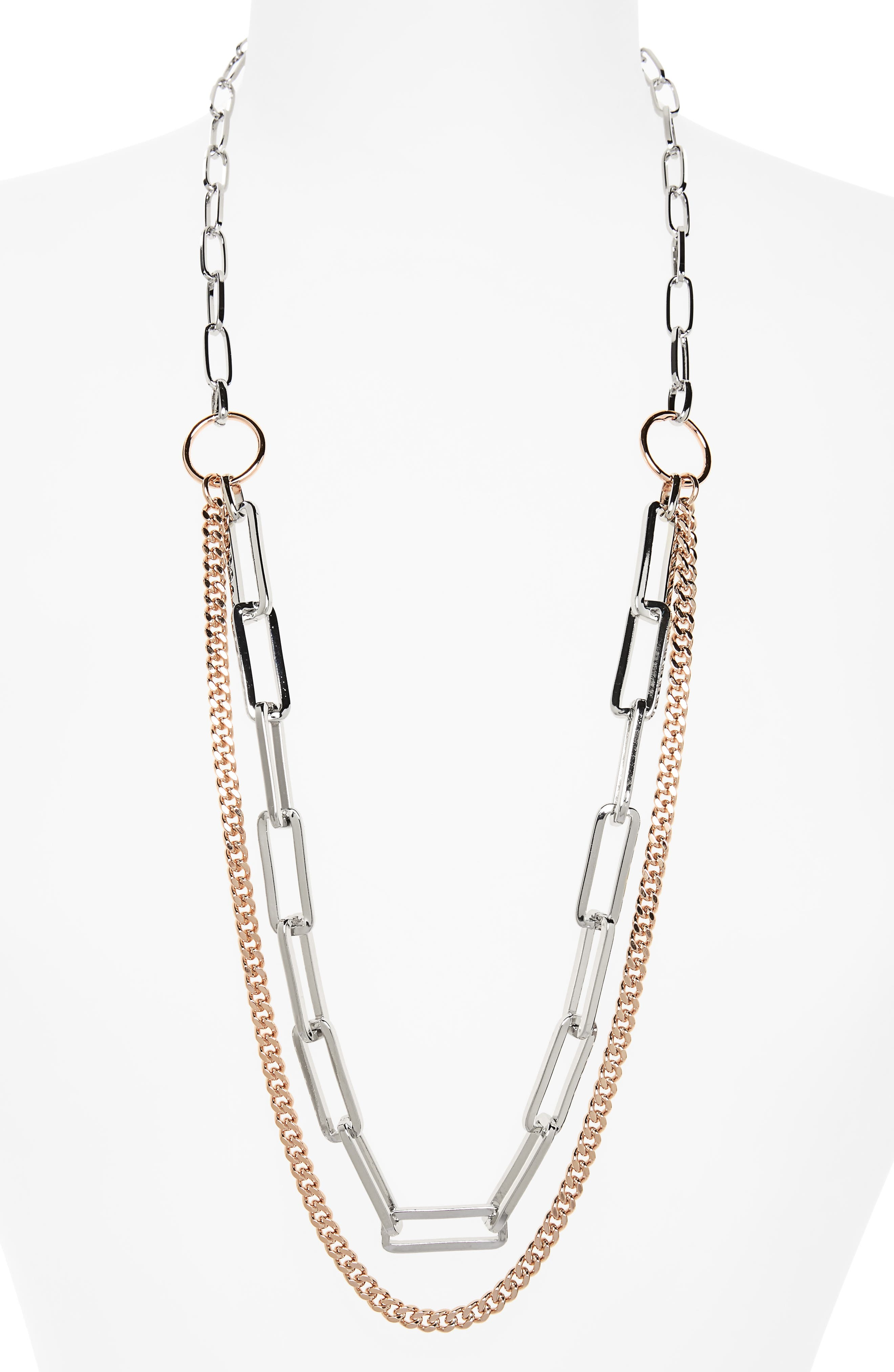 Nordstrom Double Row Chain Necklace