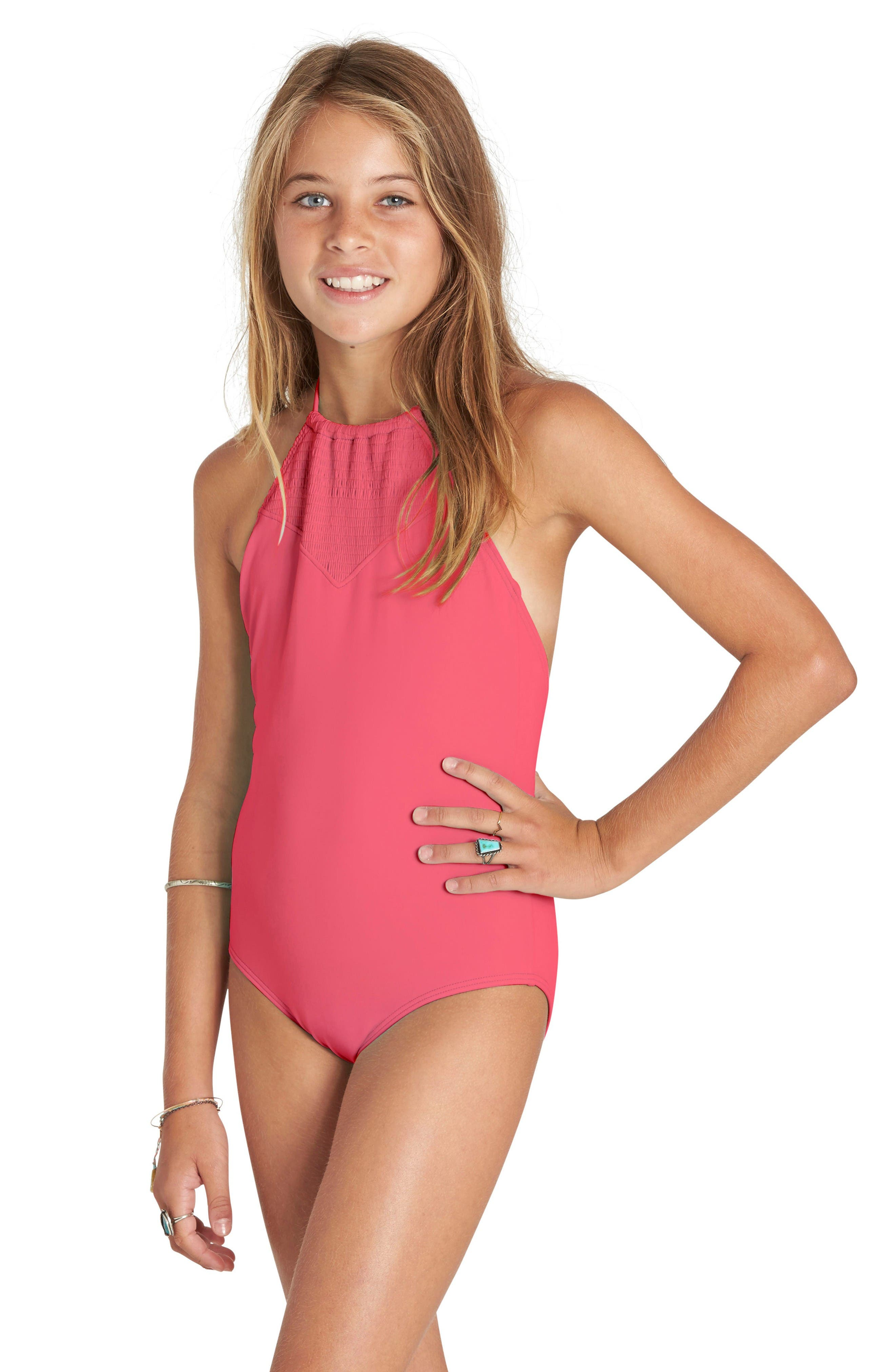 Billabong Halter One-Piece Swimsuit (Little Girls & Big Girls)