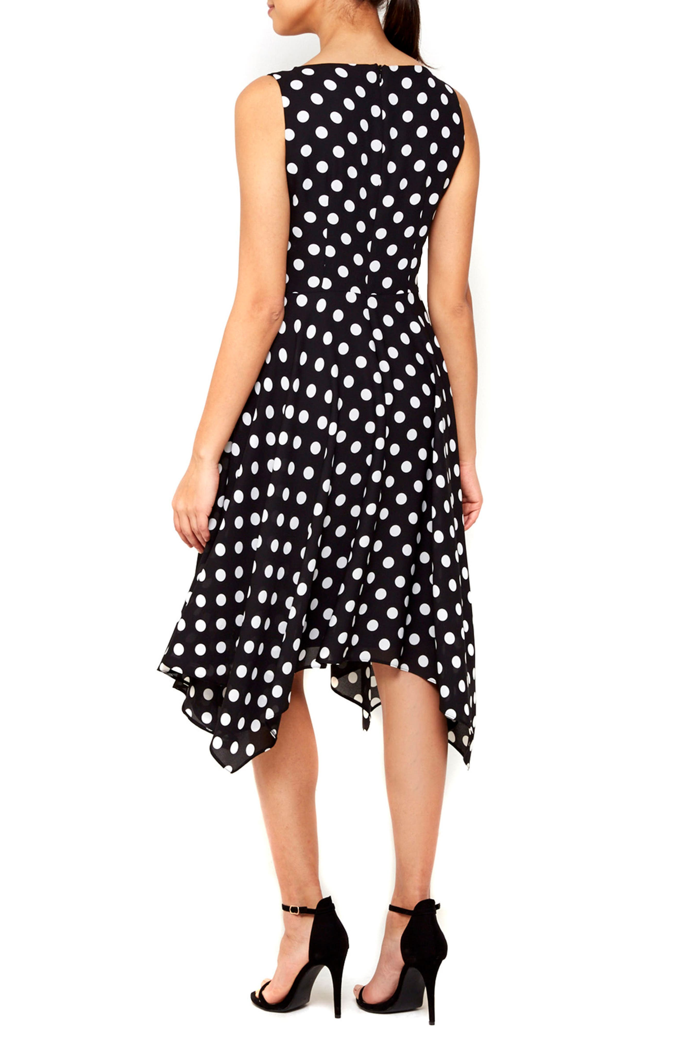 Alternate Image 2  - Wallis Dot Print Handkerchief Hem Dress