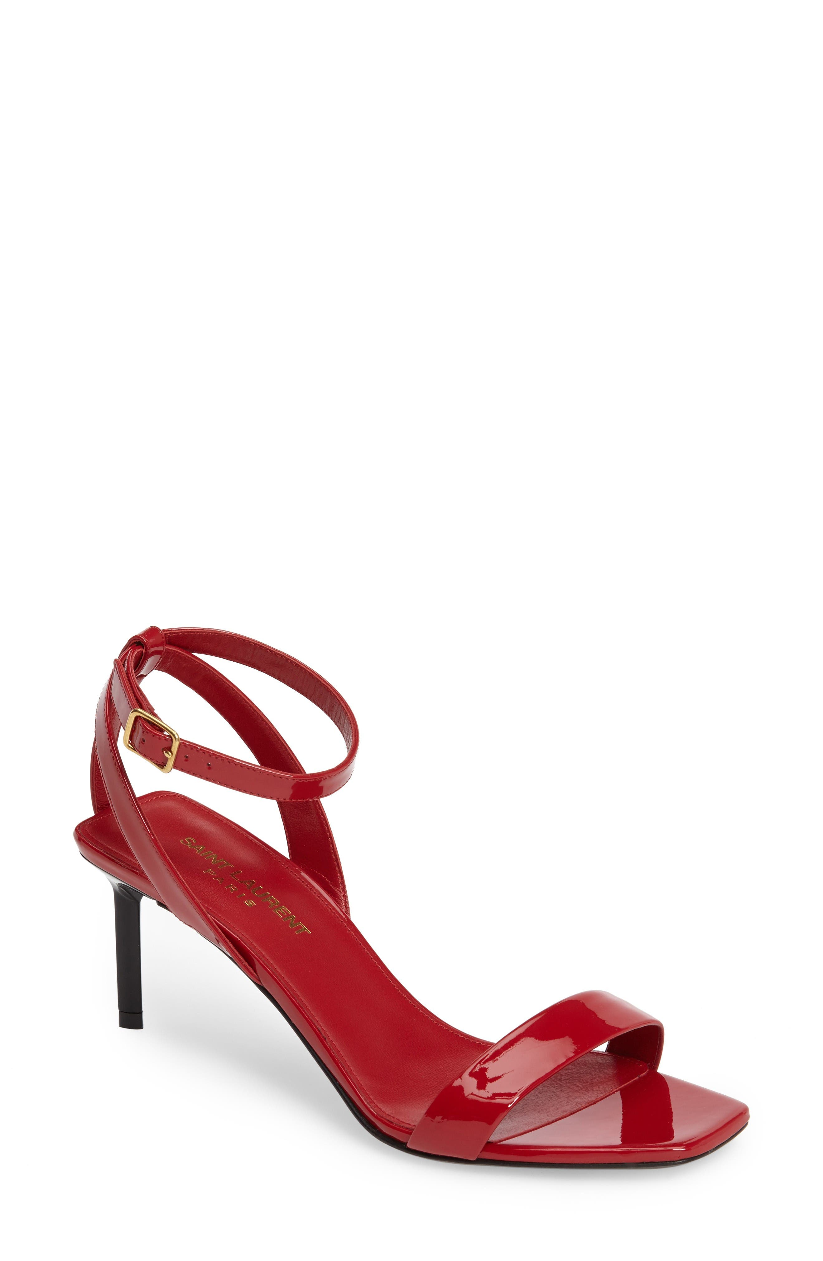 Saint Laurent Edie Ankle Strap Sandal (Women)