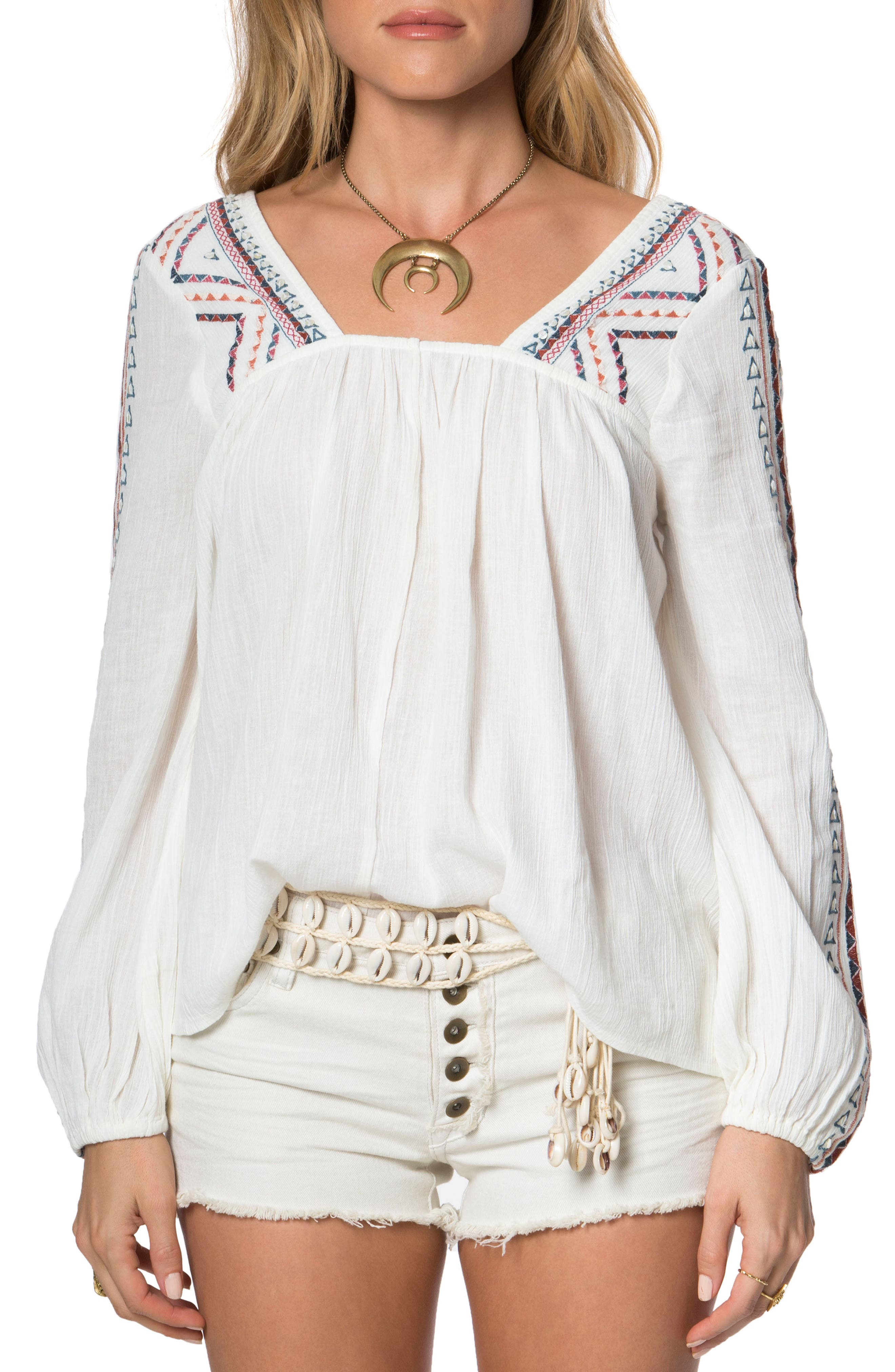 Alternate Image 1 Selected - O'Neill Sidra Embroidered Woven Top
