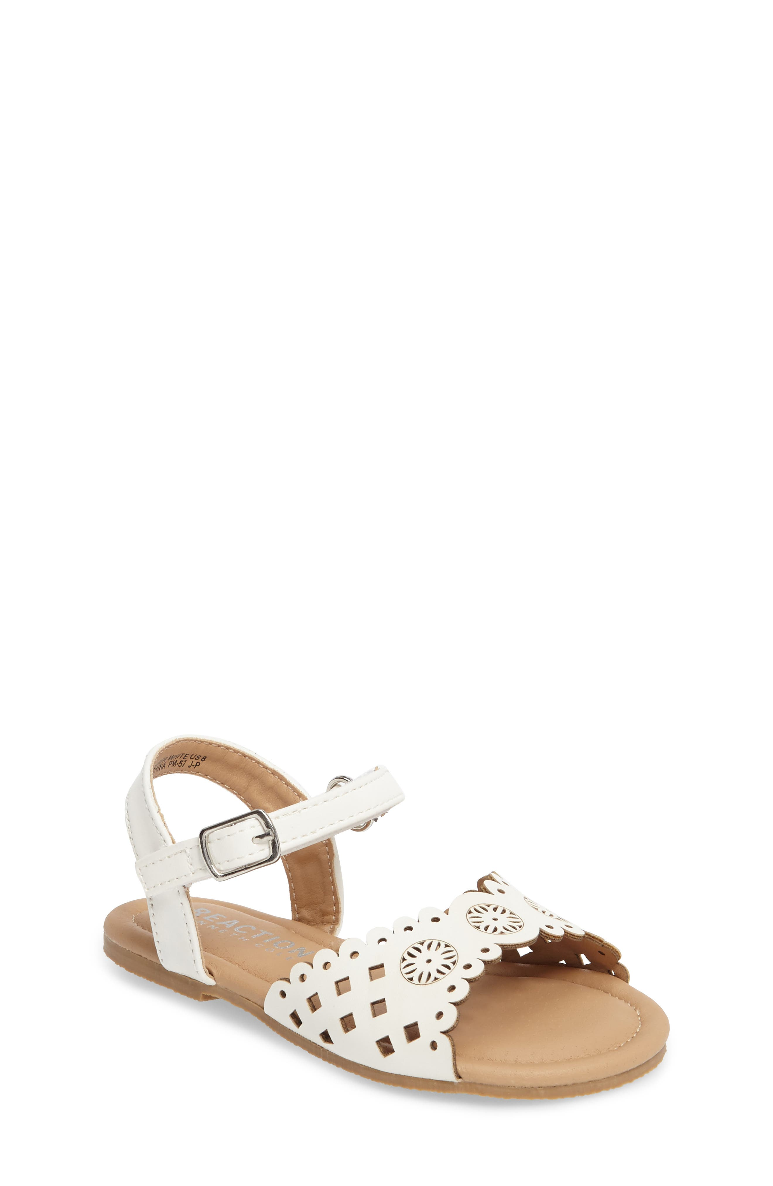 Kenneth Cole New York Daylo Perforated Sandal (Walker & Toddler)