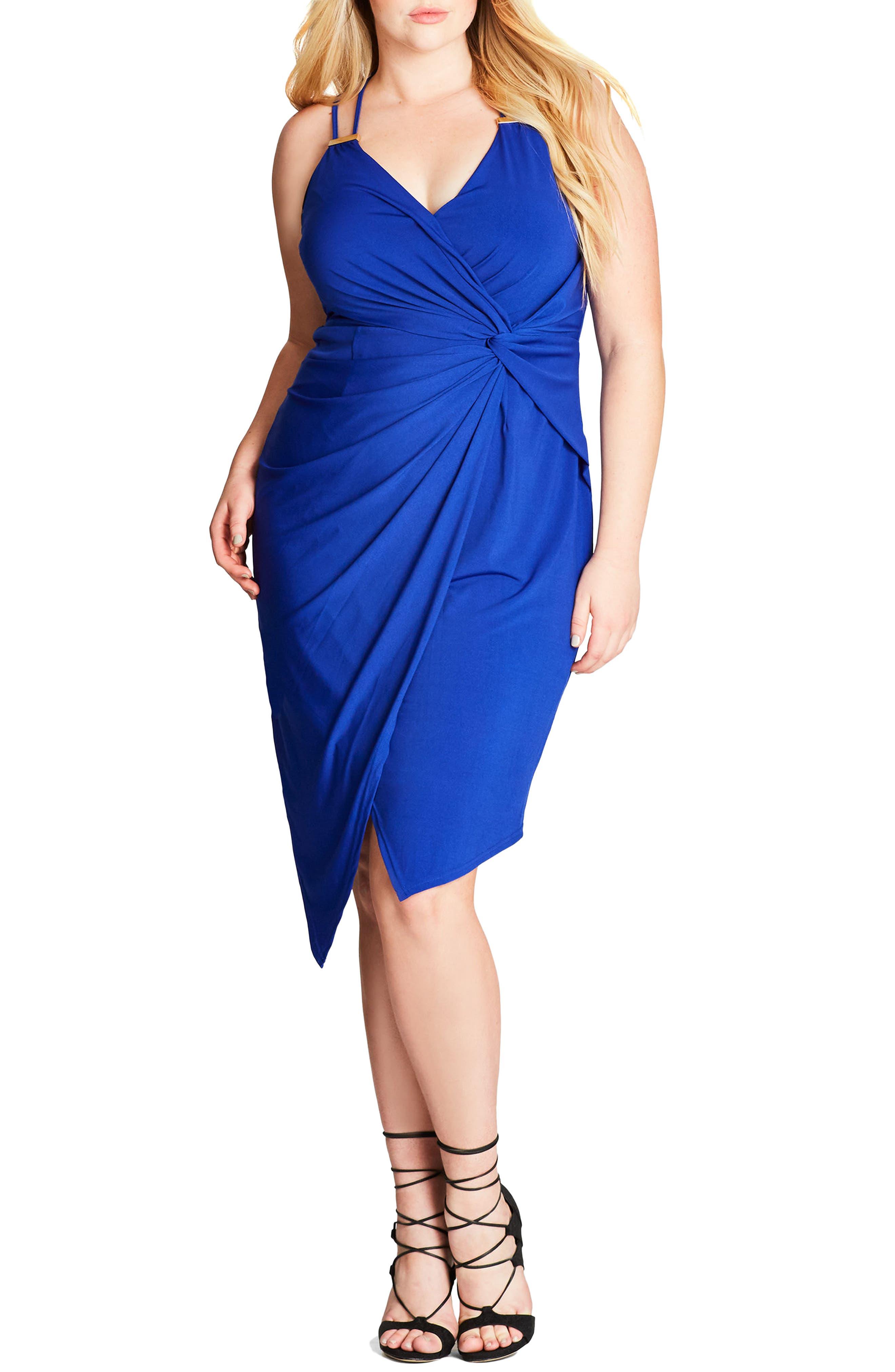City Chic So Seductive Faux Wrap Dress (Plus Size)