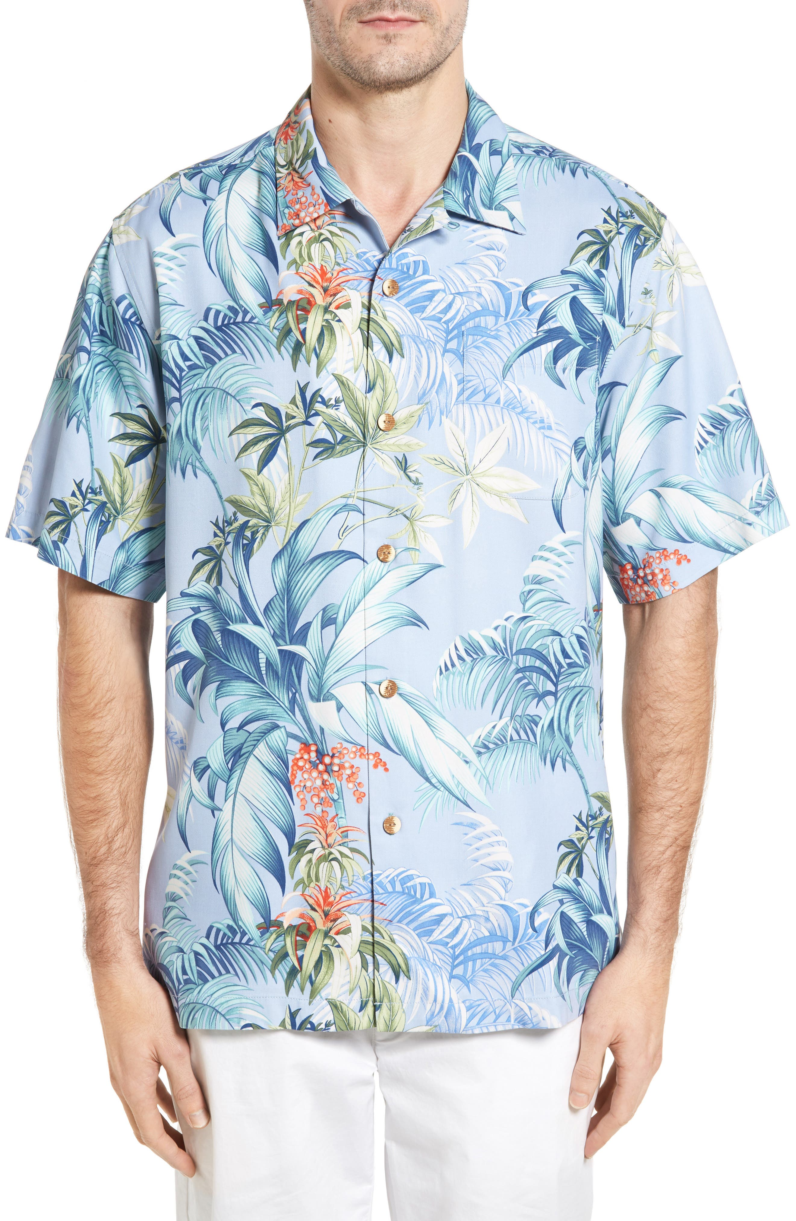 Tommy Bahama Tropical Falls Print Silk Shirt