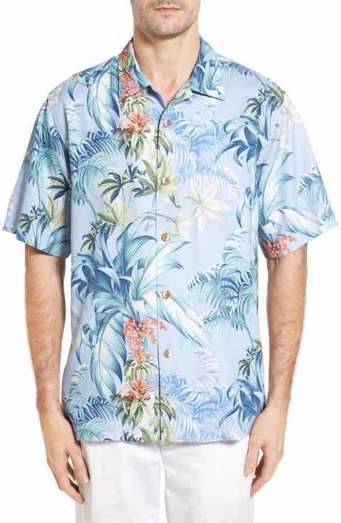 Tommy Bahama Tropical Falls Print Silk Shirt
