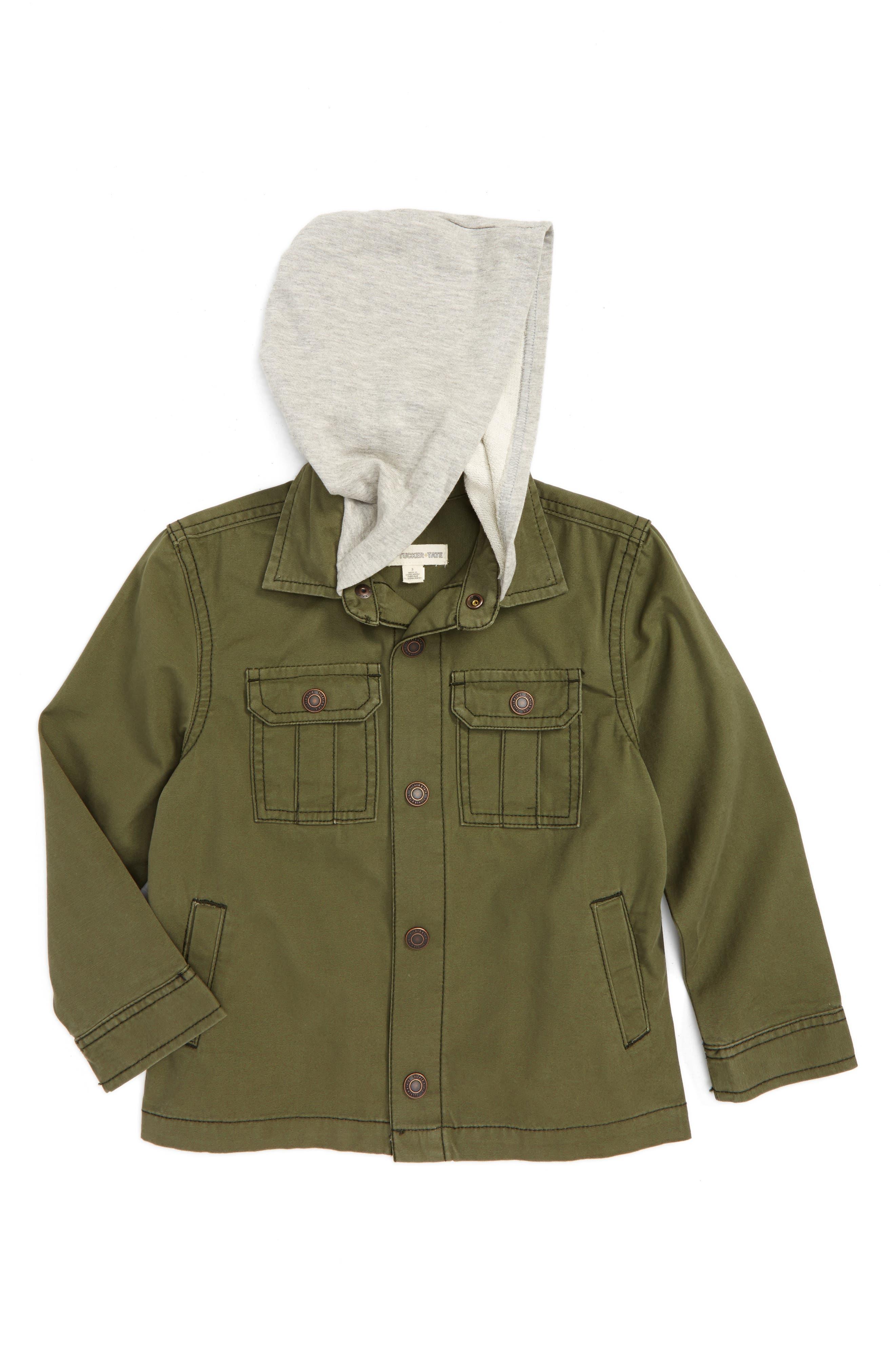 Tucker + Tate Hooded Canvas Jacket (Toddler Boys & Little Boys)