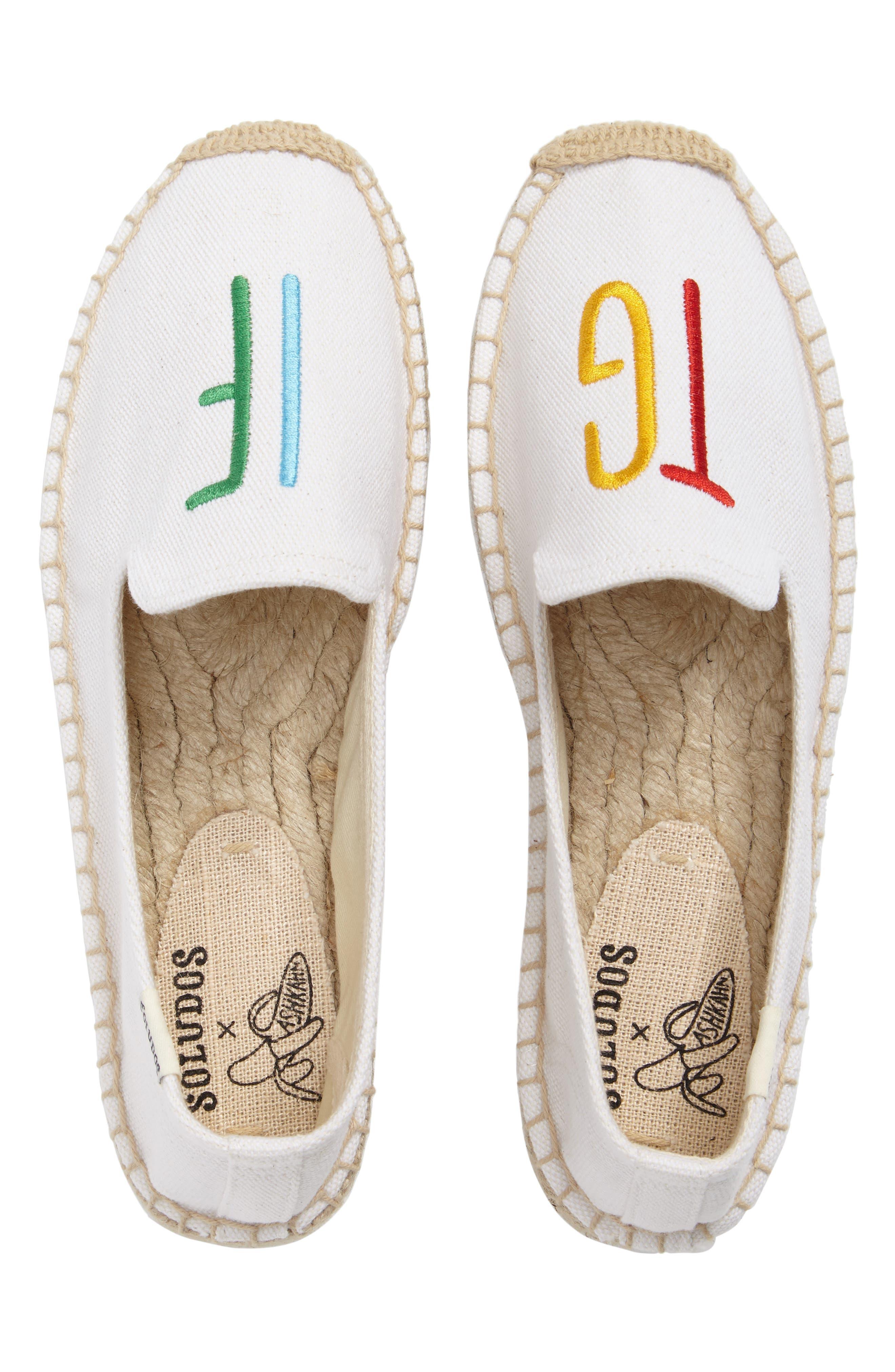 Soludos x ASHKAHN TGIF Embroidered Platform Espadrille (Women)