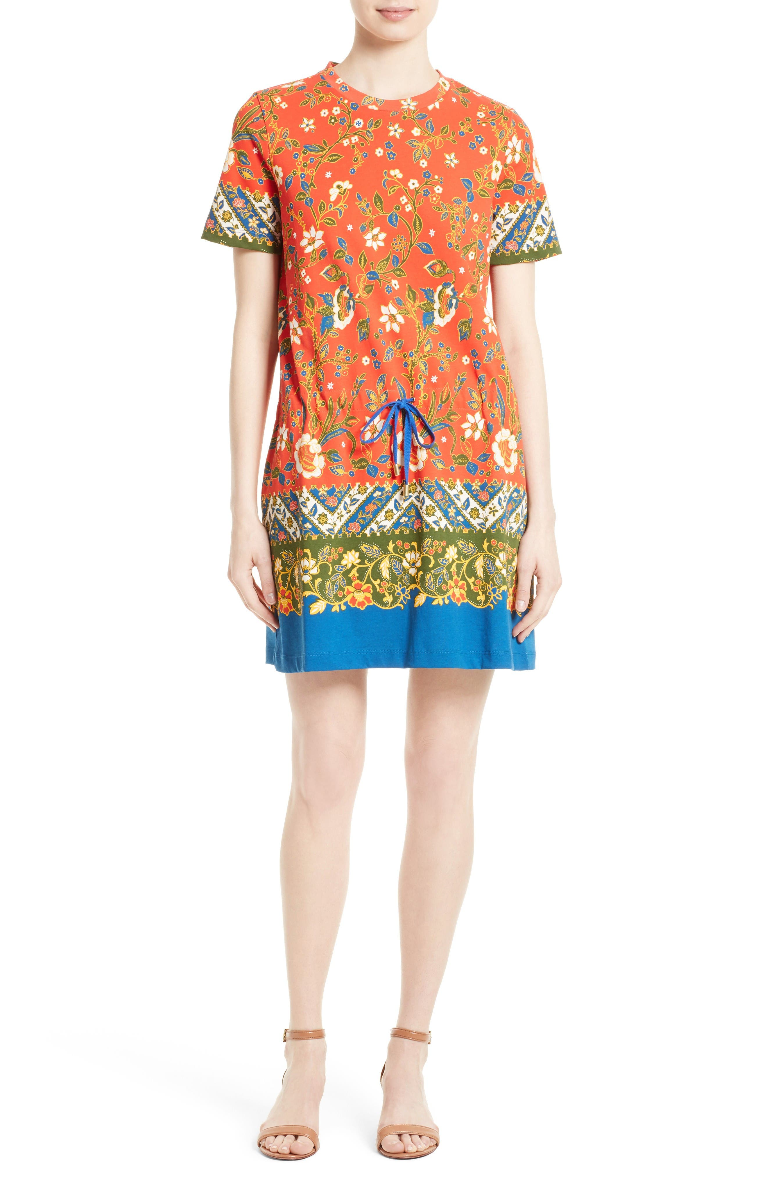 Alternate Image 1 Selected - Tory Burch Jessie Print T-Shirt Dress