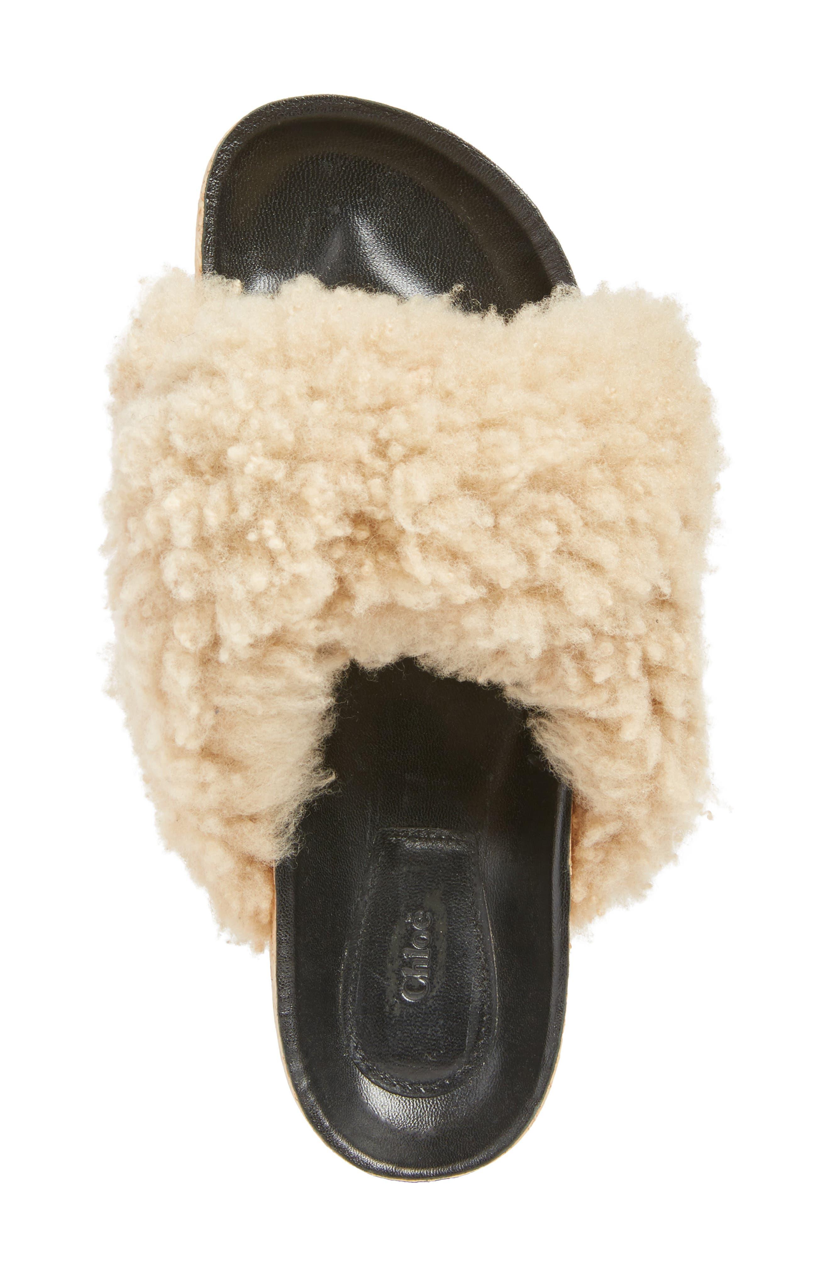 Alternate Image 5  - Chloé Kerenn Genuine Shearling Sandal (Women)
