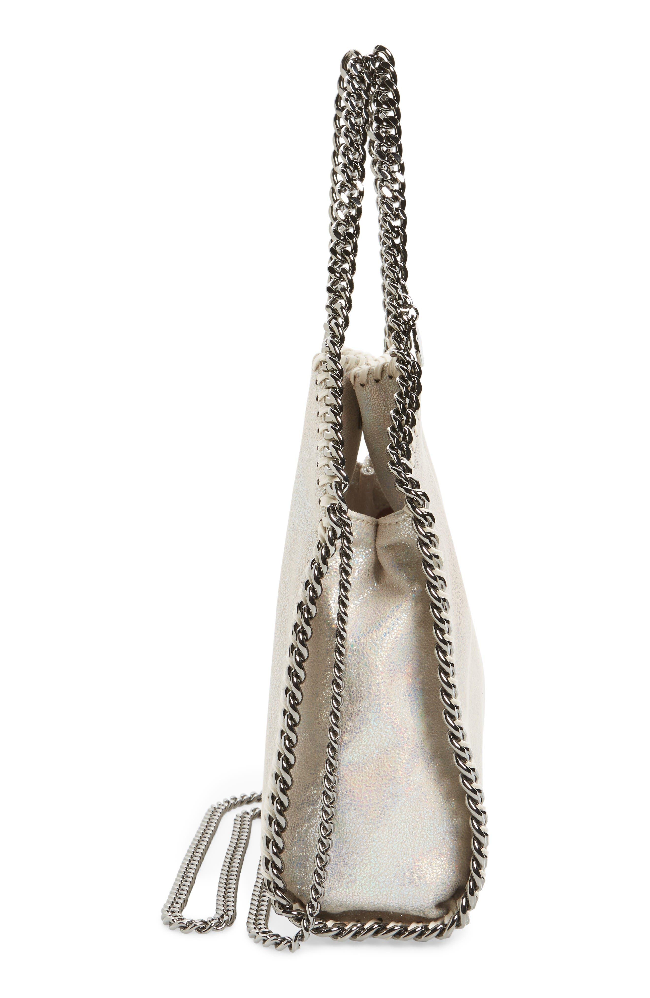 Alternate Image 5  - Stella McCartney Mini Falabella - Holograph Faux Leather Crossbody Bag