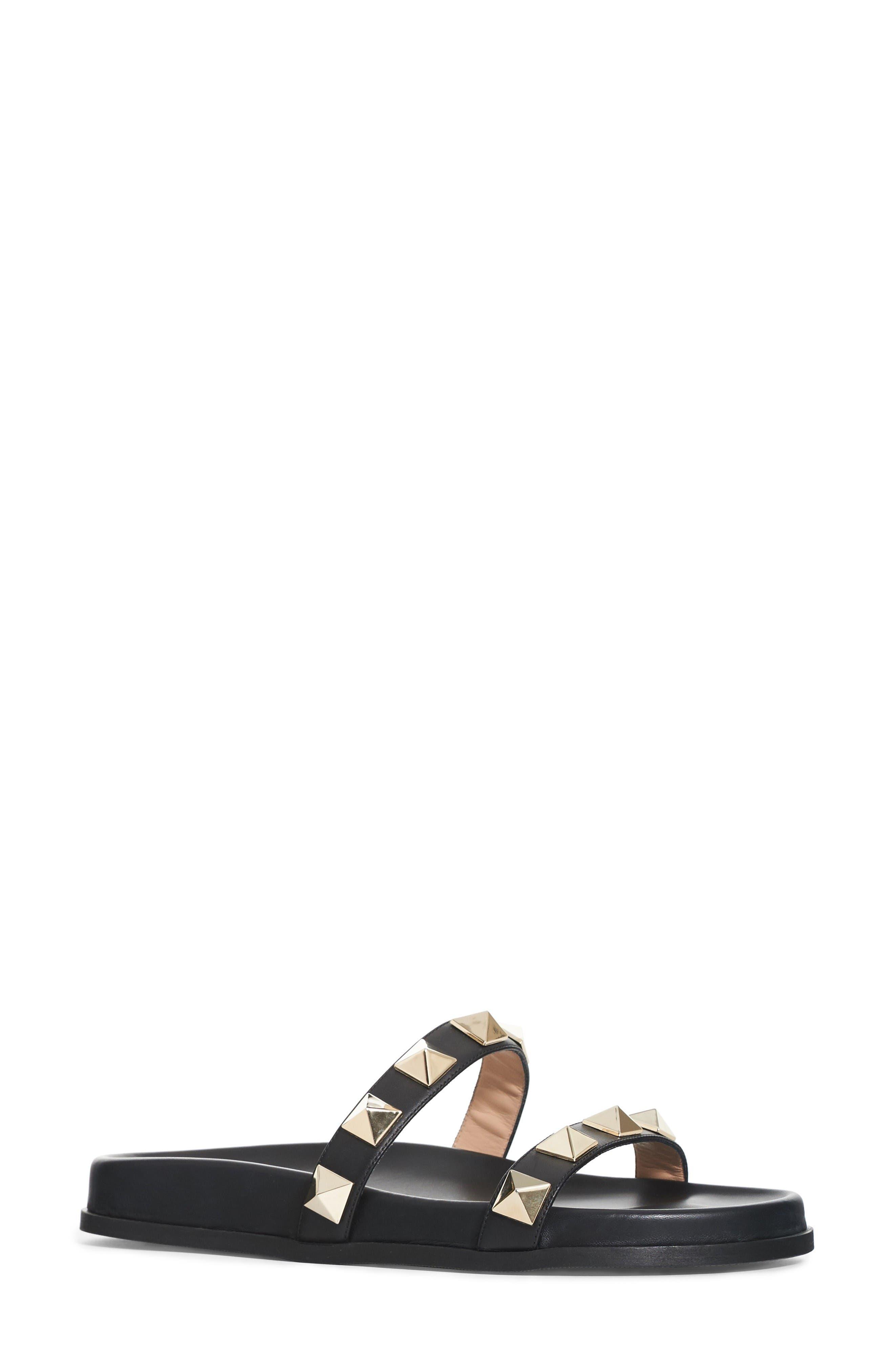 Valentino Rockstud Lock Slide Sandal (Women)