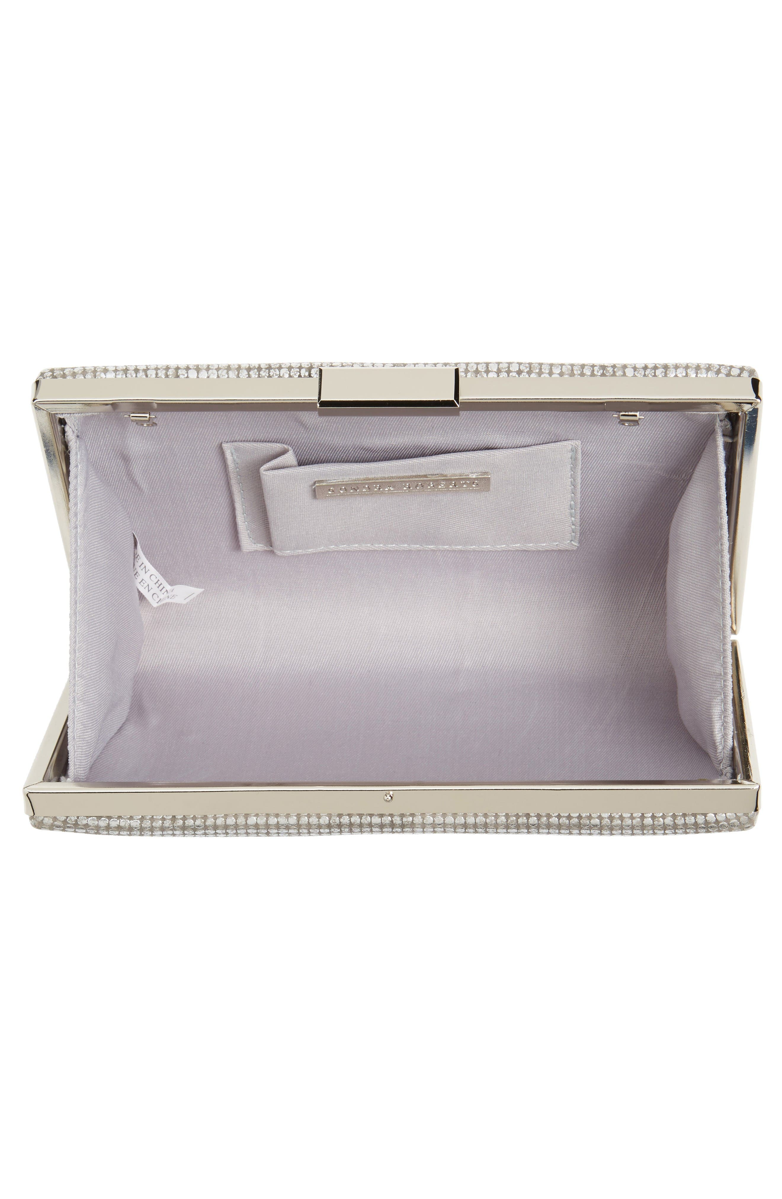 Alternate Image 4  - Sondra Roberts Embossed Metallic Box Clutch