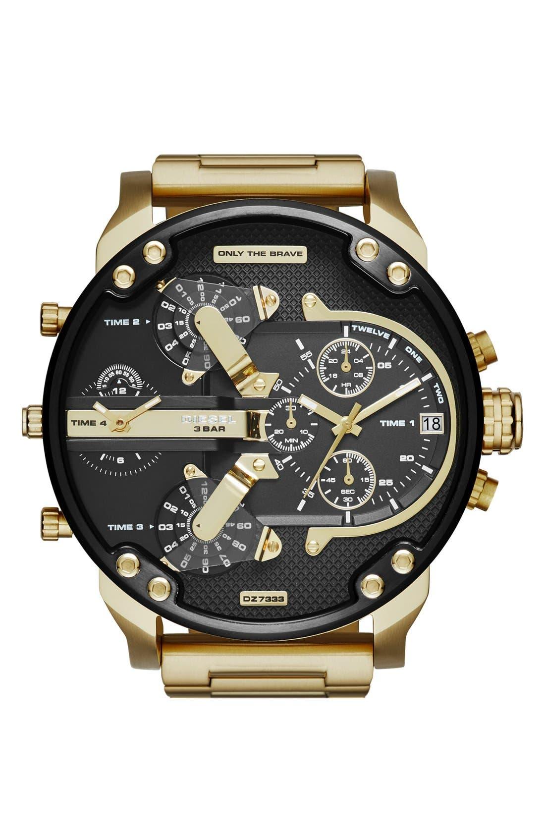 DIESEL® 'Mr. Daddy 2.0' Chronograph Watch, 57mm