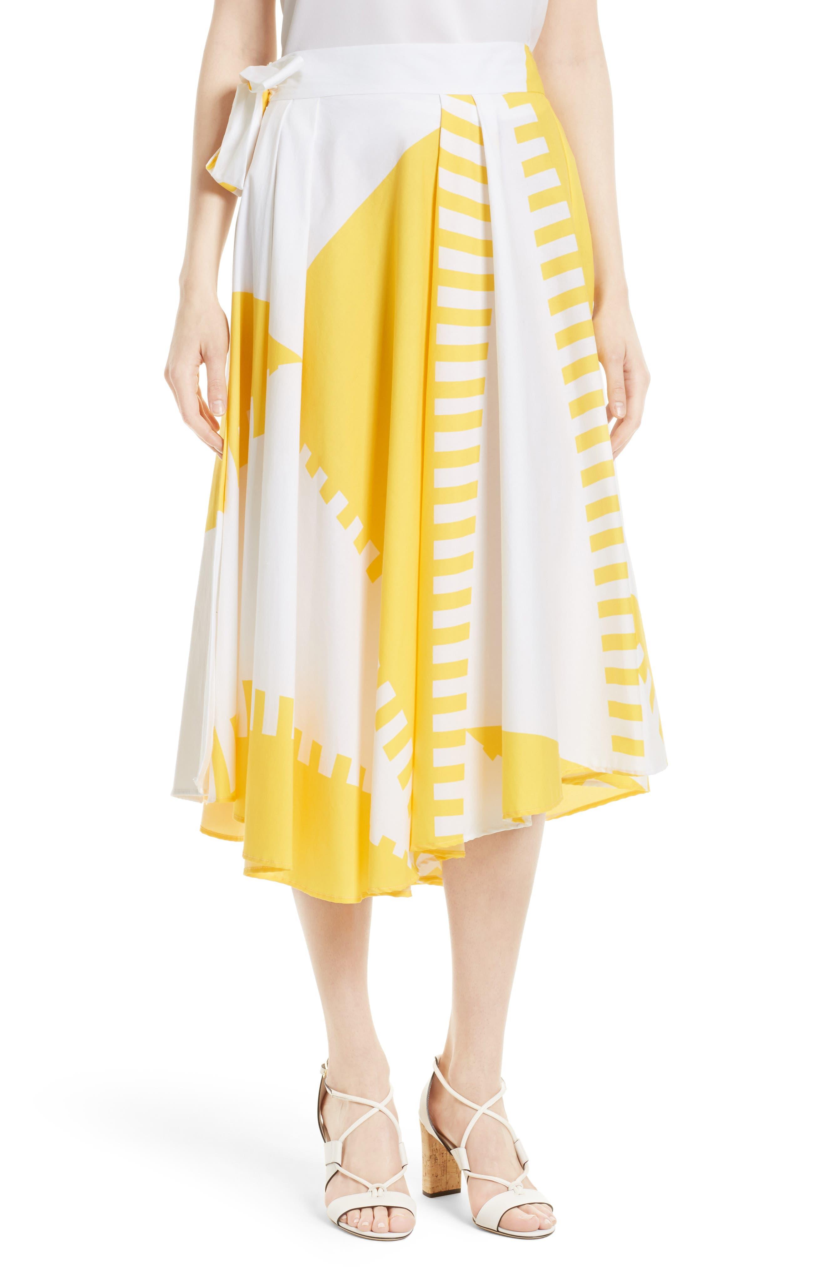 Milly Peyton Wrap Skirt