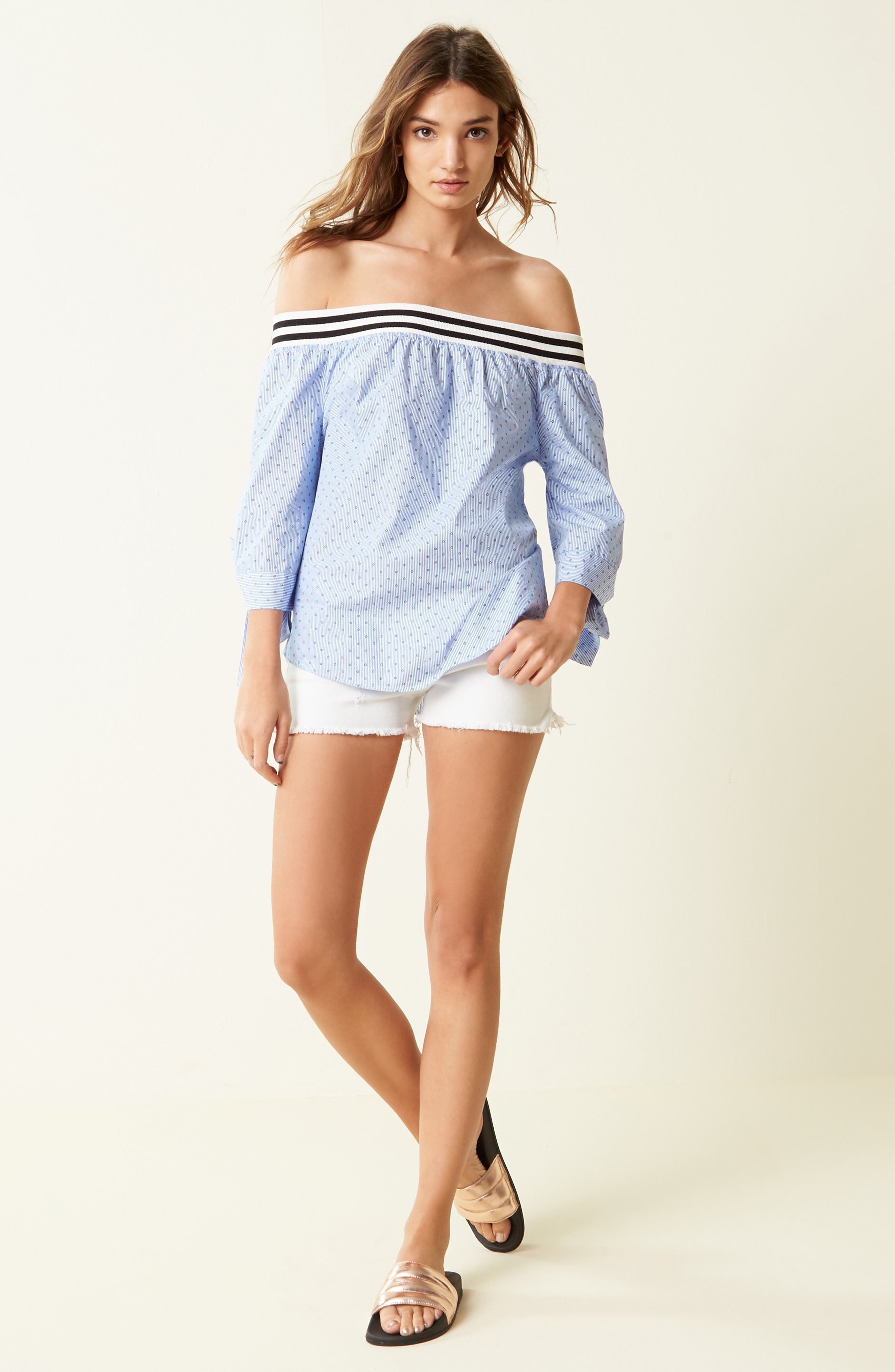 BLANKNYC Top & STS Blue Shorts Outfit with Accessories
