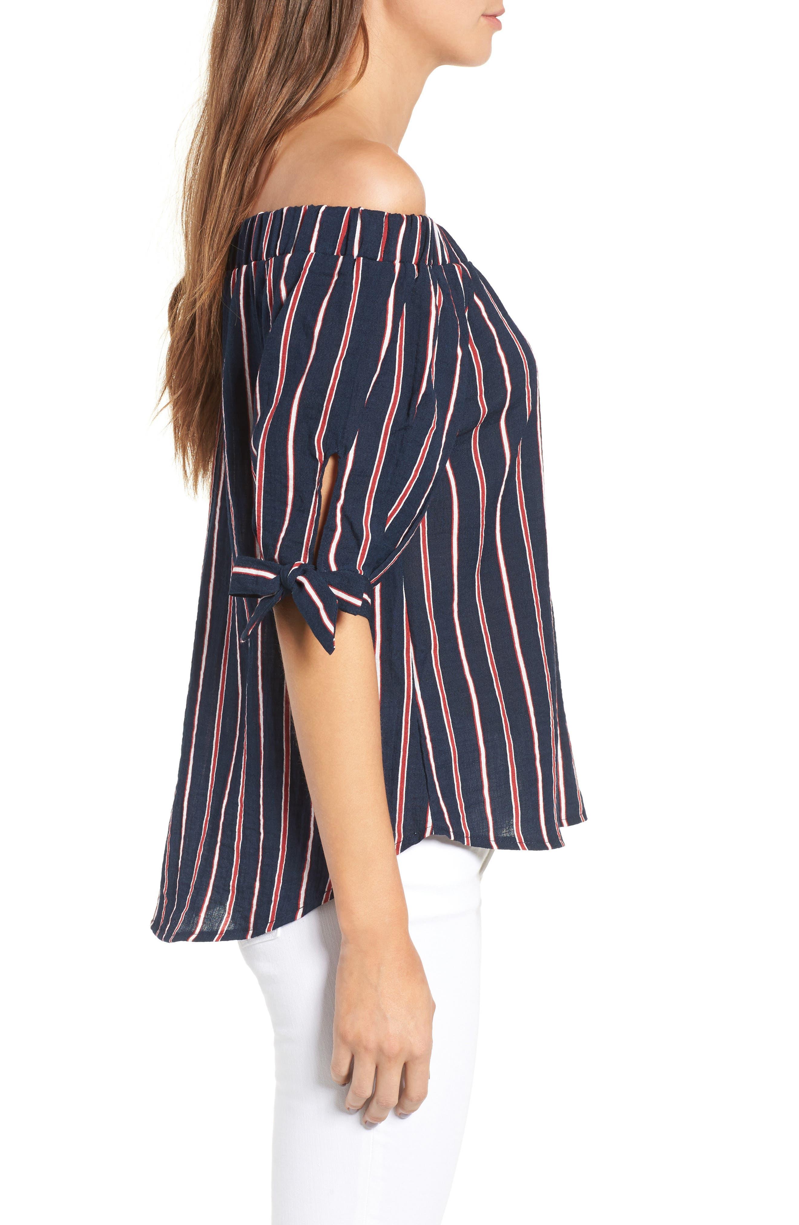 Alternate Image 3  - THML Off the Shoulder Stripe Top