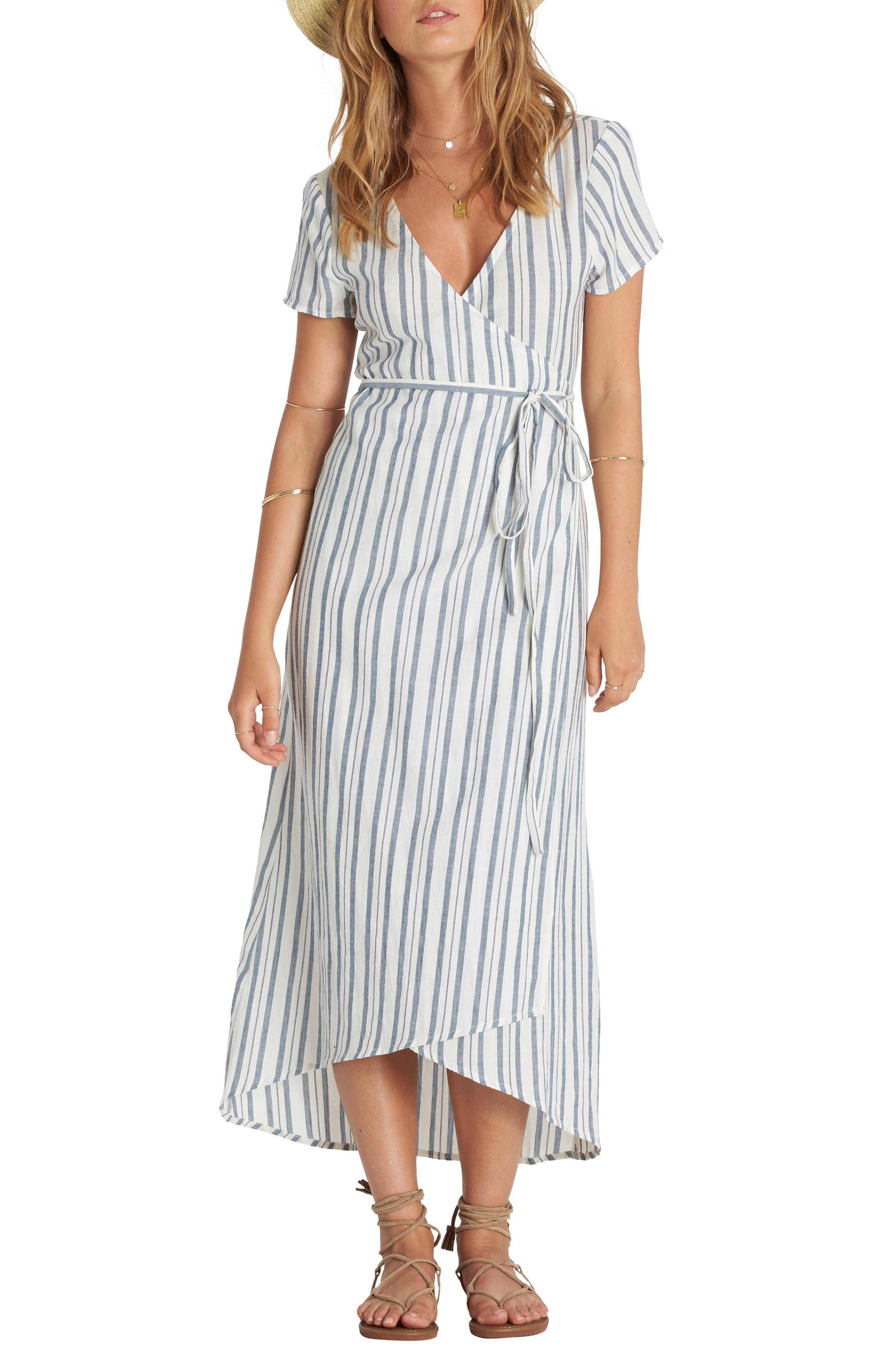 Alternate Image 1 Selected - Billabong Right Side Wrap Midi Dress