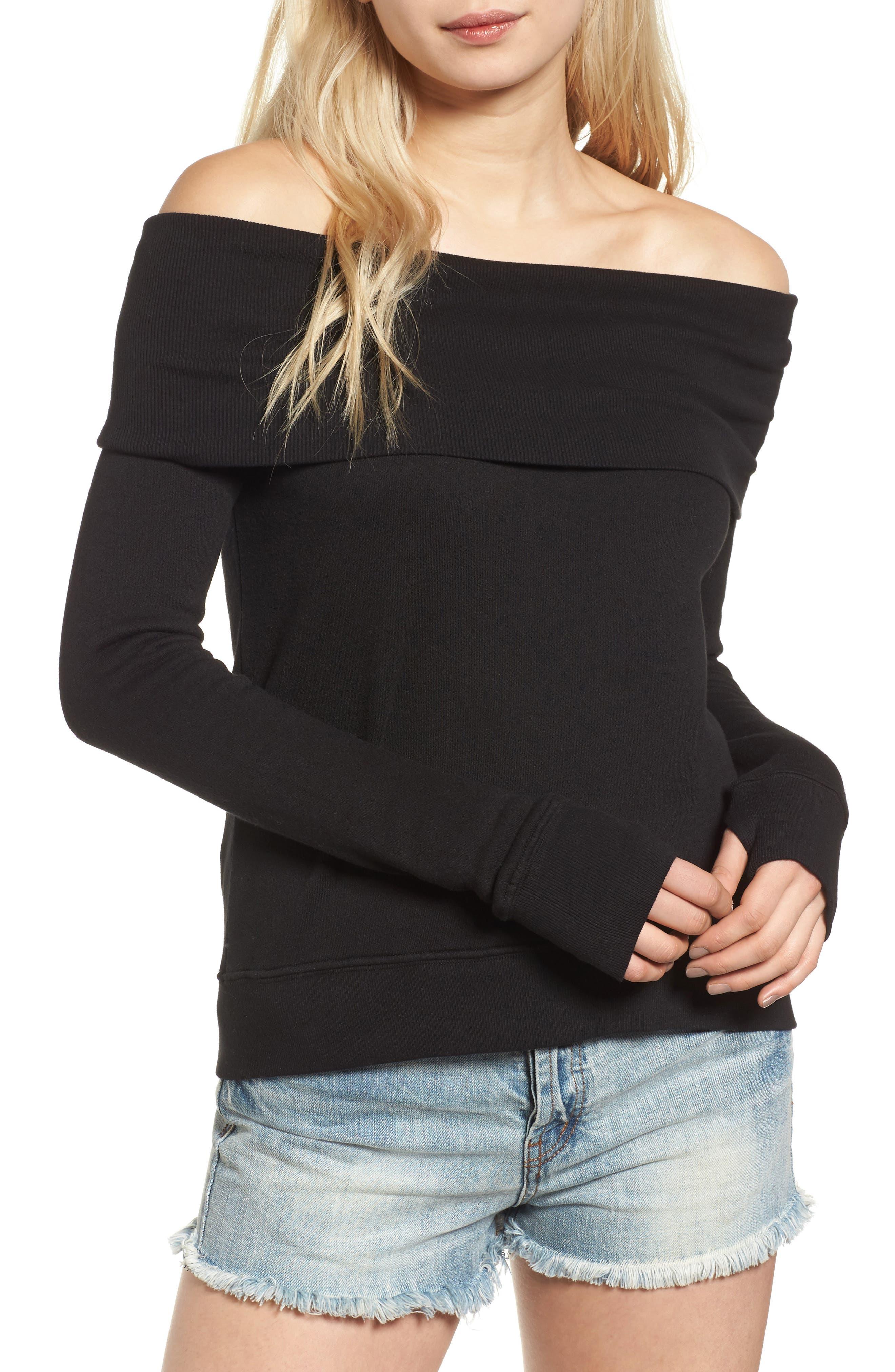 Alternate Image 1 Selected - Pam & Gela Off the Shoulder Sweatshirt