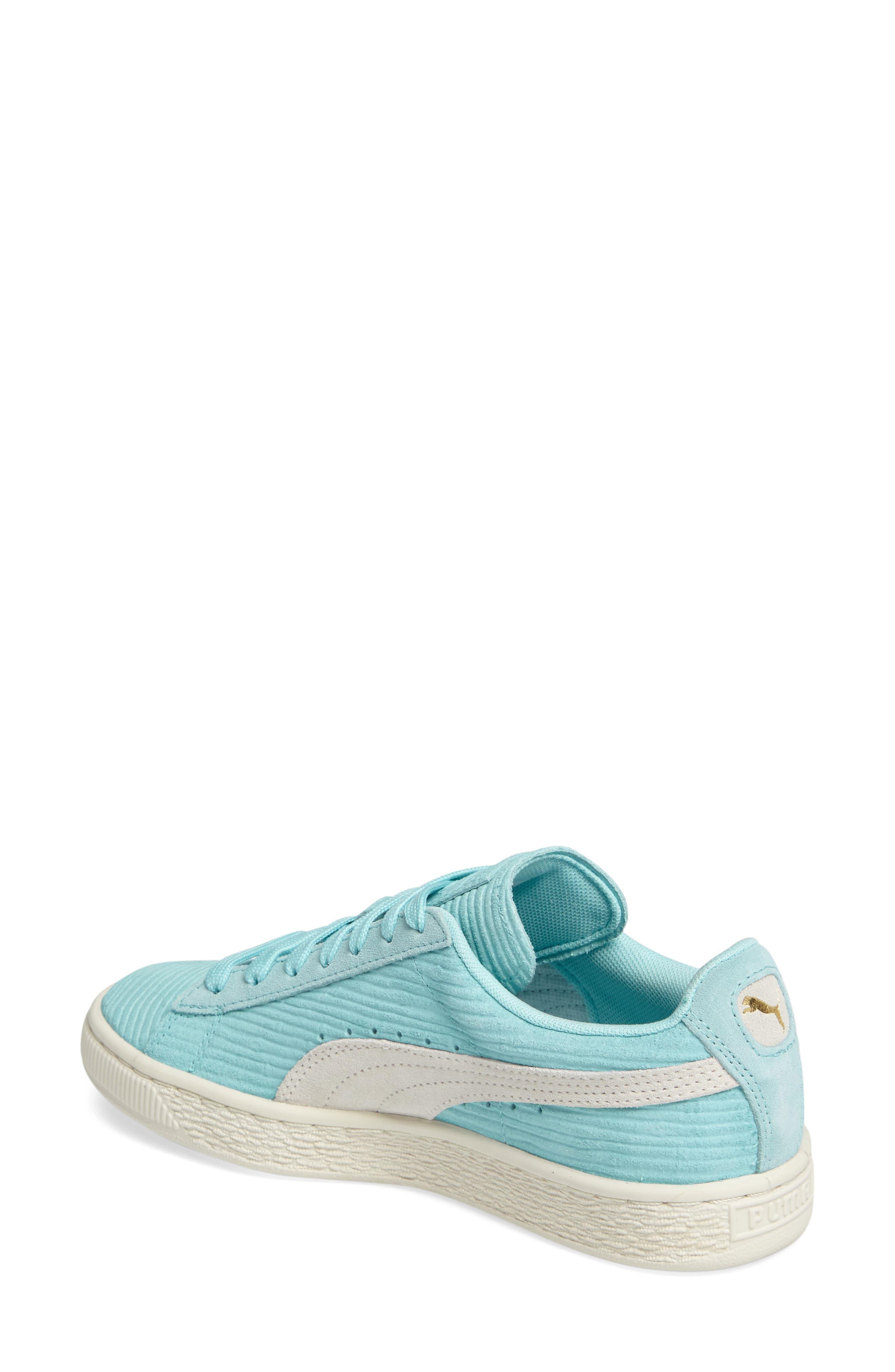 Alternate Image 2  - PUMA Suede Classic Embossed Sneaker (Women)