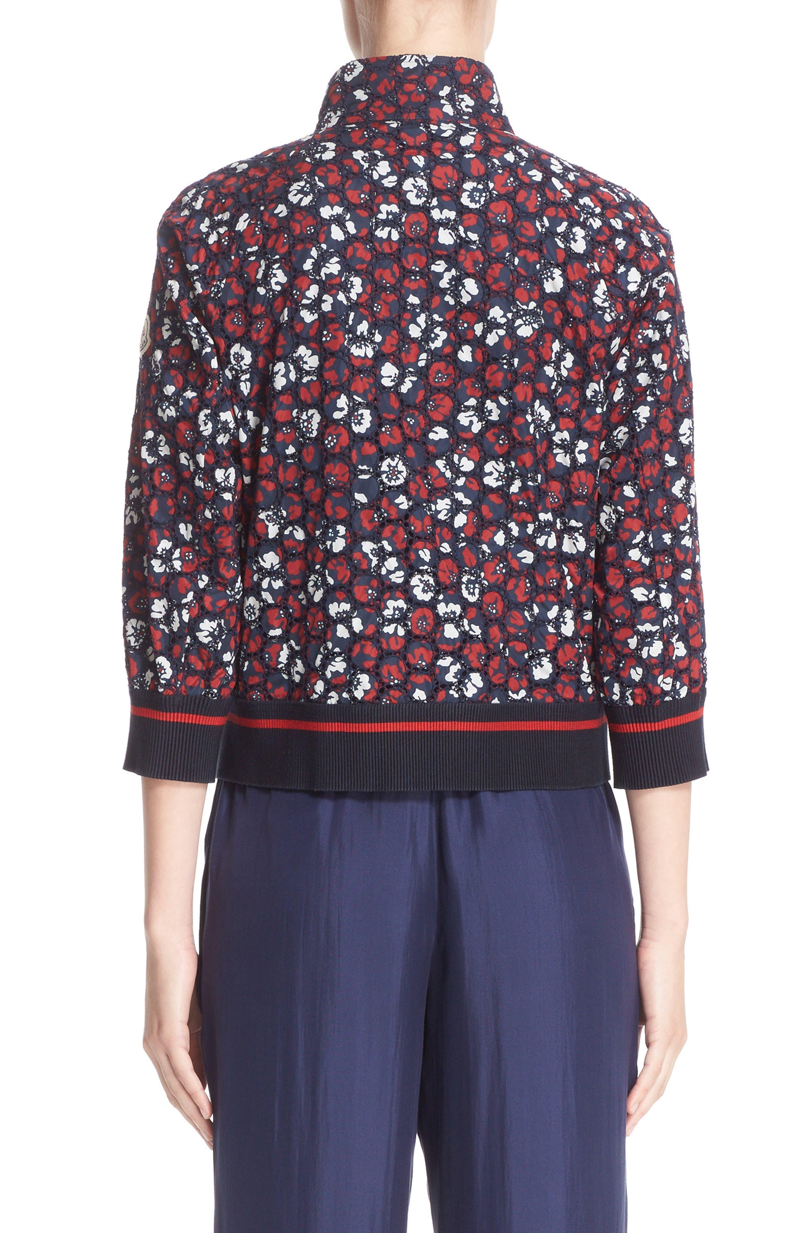 Alternate Image 2  - Moncler Fiadone Floral Eyelet Jacket