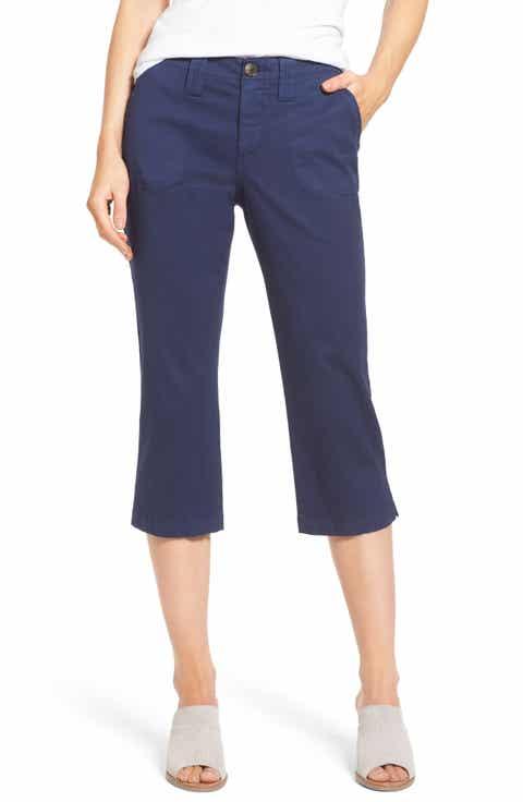 NYDJ Stretch Cotton Crop Pants (Regular   Petite)