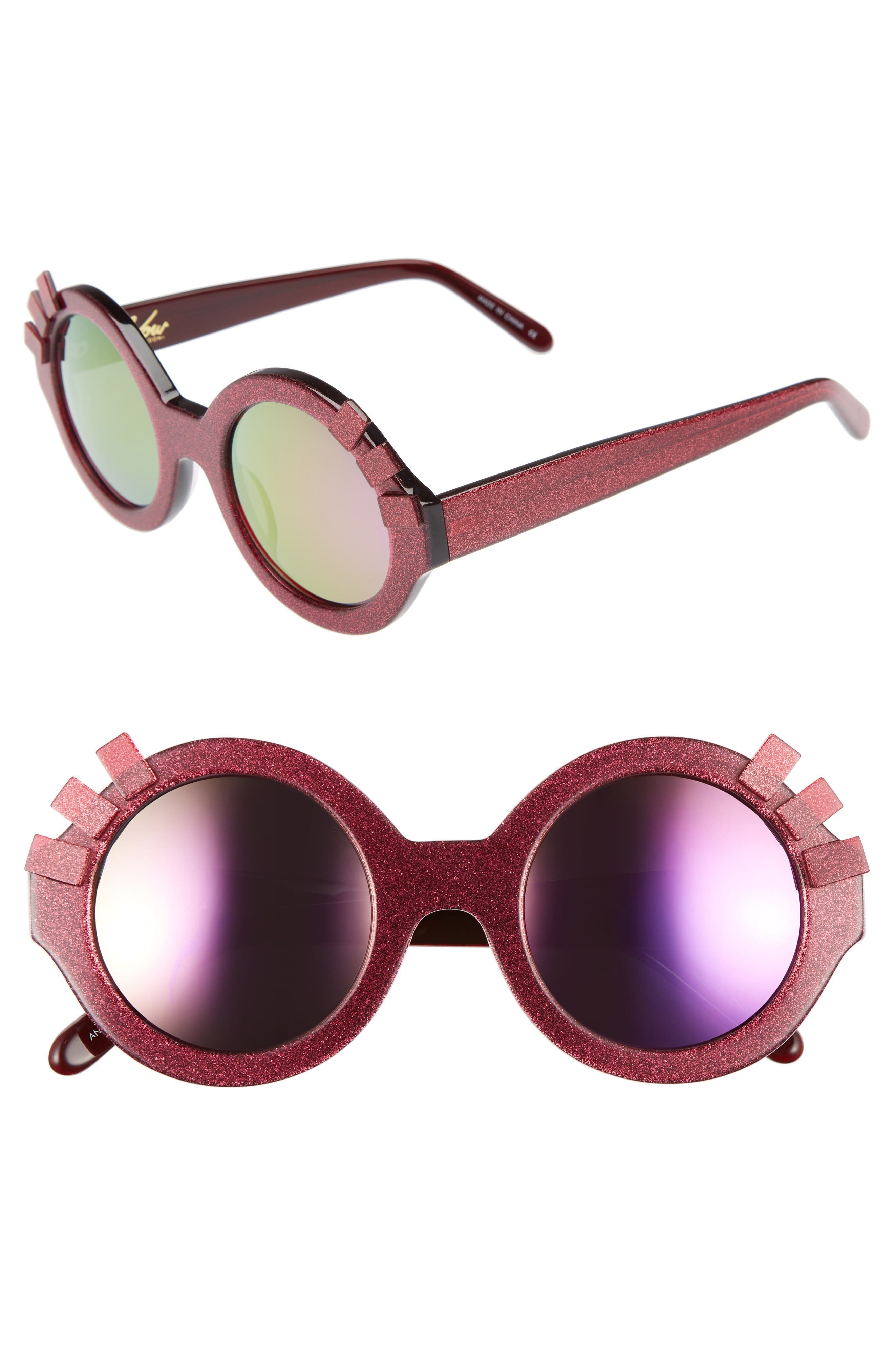 Alternate Image 1 Selected - Vow London Andie Eyelash 46mm Round Sunglasses