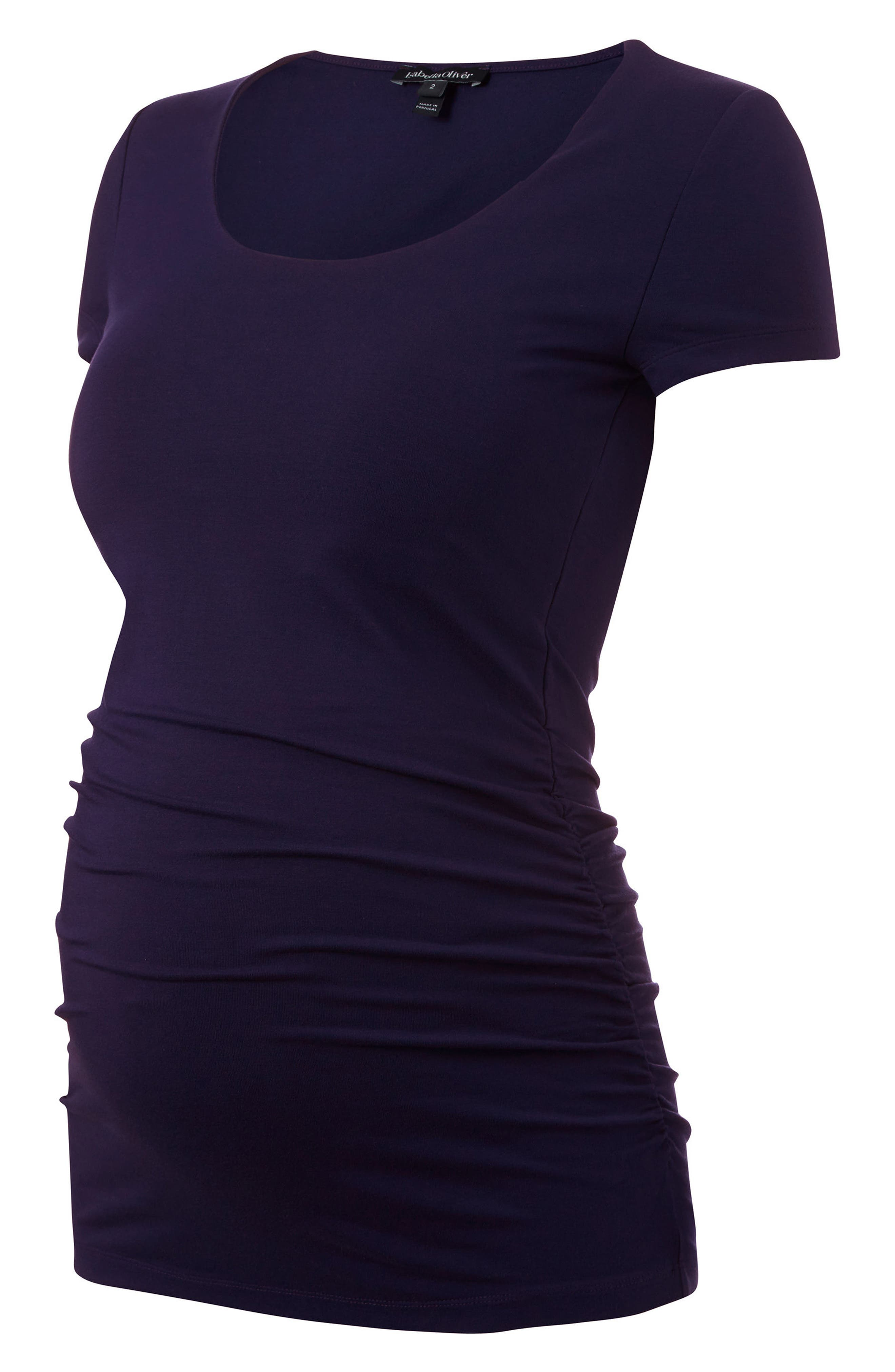 Alternate Image 1 Selected - Isabella Oliver Scoop Neck Maternity Tee